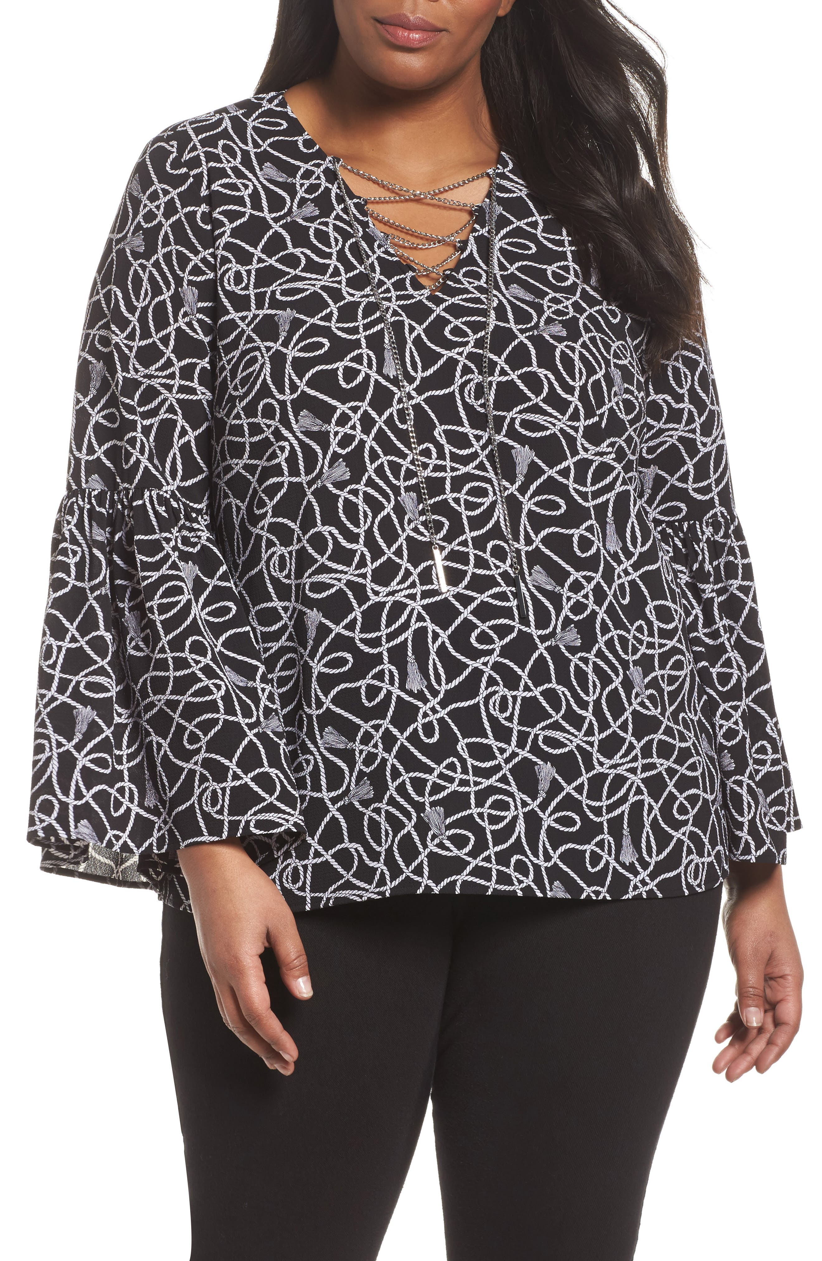 Twisted Rope Blouse,                             Main thumbnail 1, color,