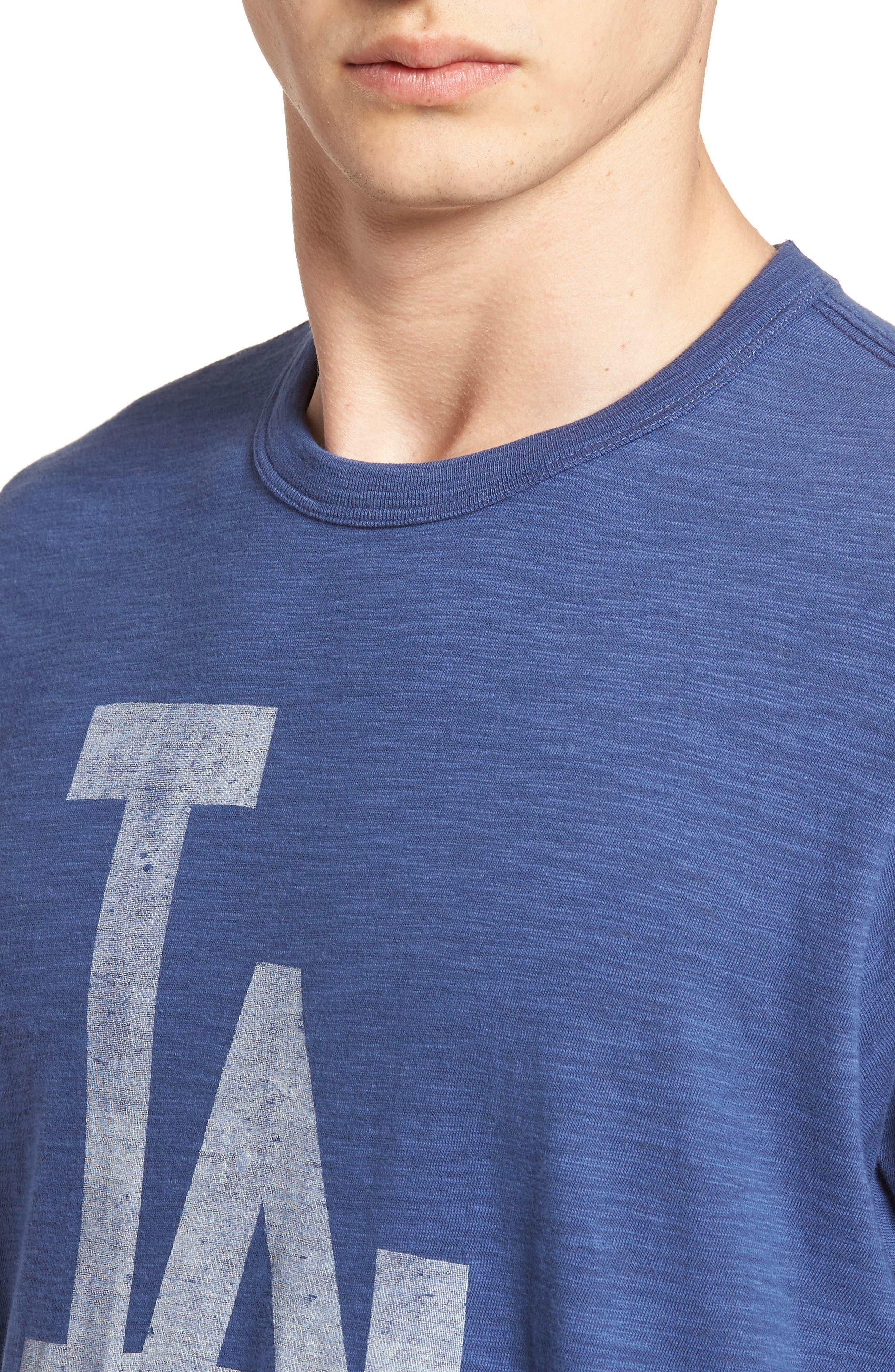 '47,                             Grit Scrum Los Angeles Dodgers T-Shirt,                             Alternate thumbnail 4, color,                             400