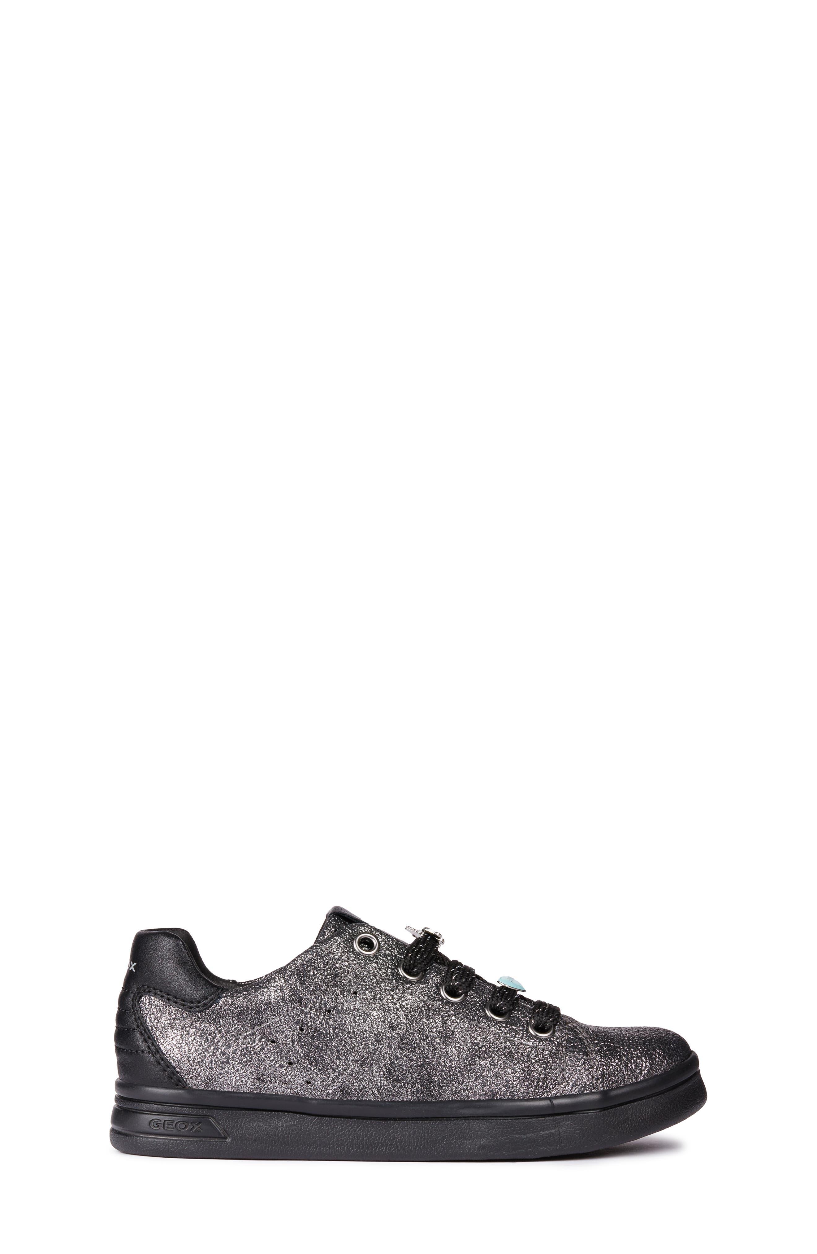 DJ Rock Metallic Sneaker,                             Alternate thumbnail 3, color,                             DARK SILVER