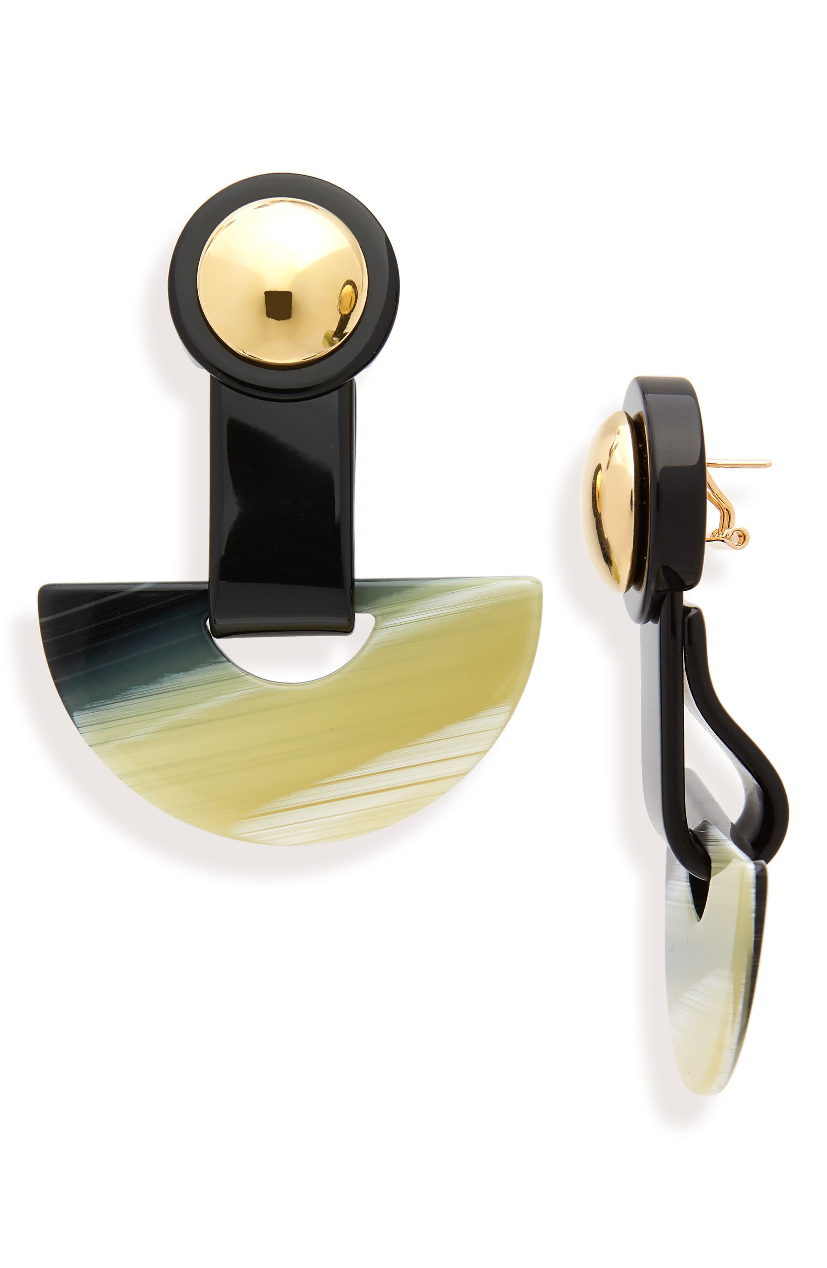 Zora Drop Earrings,                             Main thumbnail 1, color,                             BLACK SHELL
