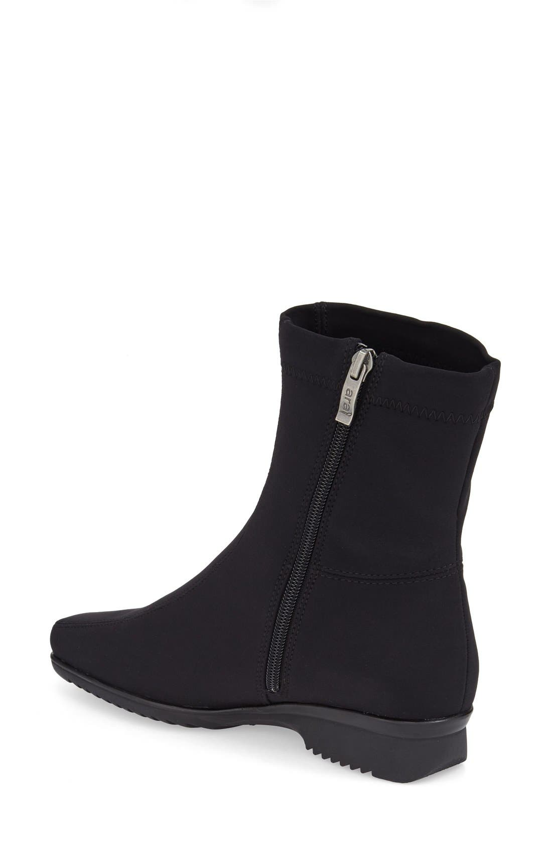 ARA,                             'Page' Waterproof Gore-Tex<sup>®</sup> Ankle Bootie,                             Alternate thumbnail 2, color,                             BLACK FABRIC