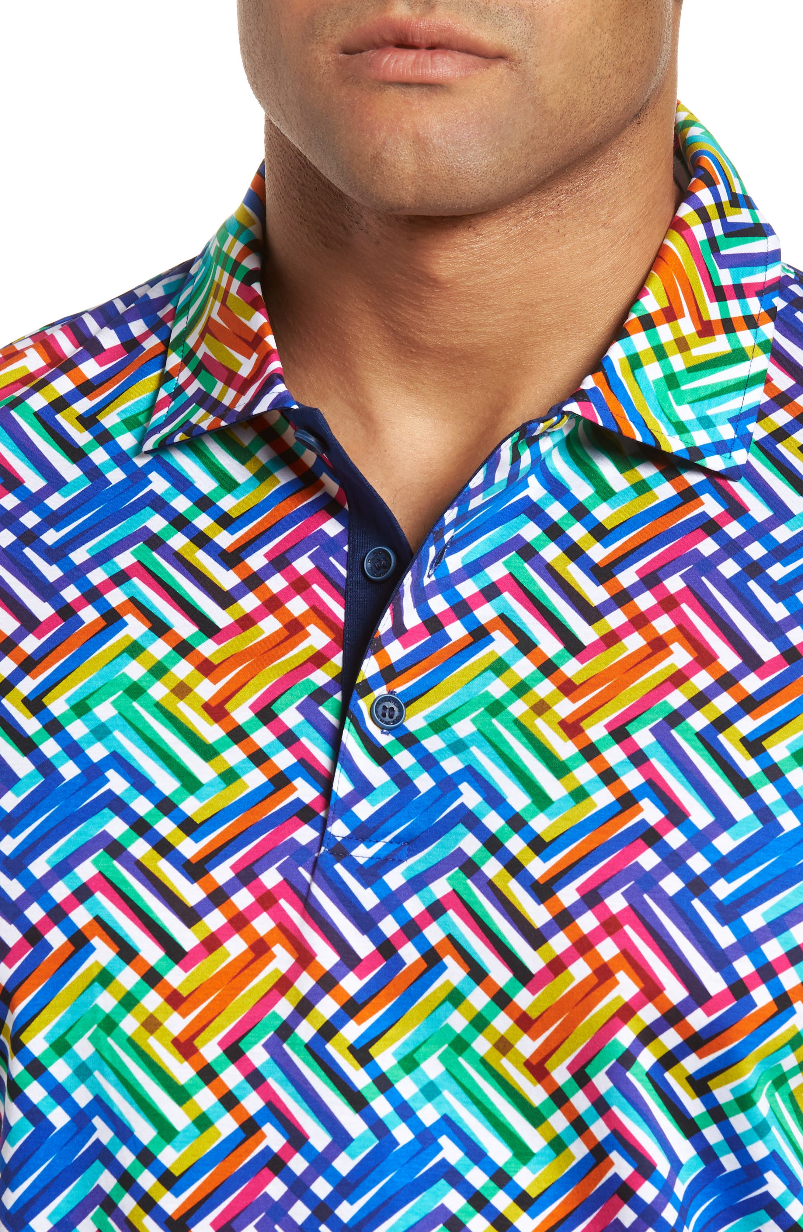 BUGATCHI,                             Regular Fit Knit Polo,                             Alternate thumbnail 4, color,                             CANDY