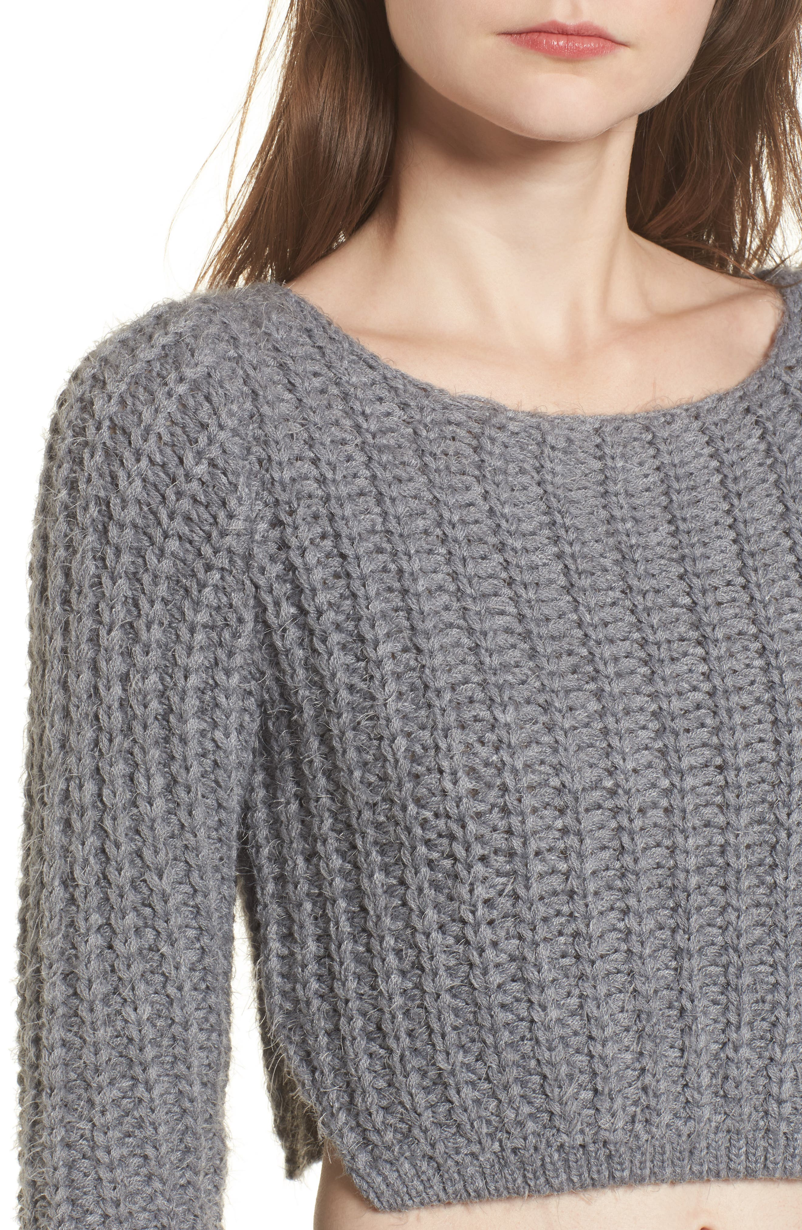 Bethany Crop Sweater,                             Alternate thumbnail 4, color,                             020
