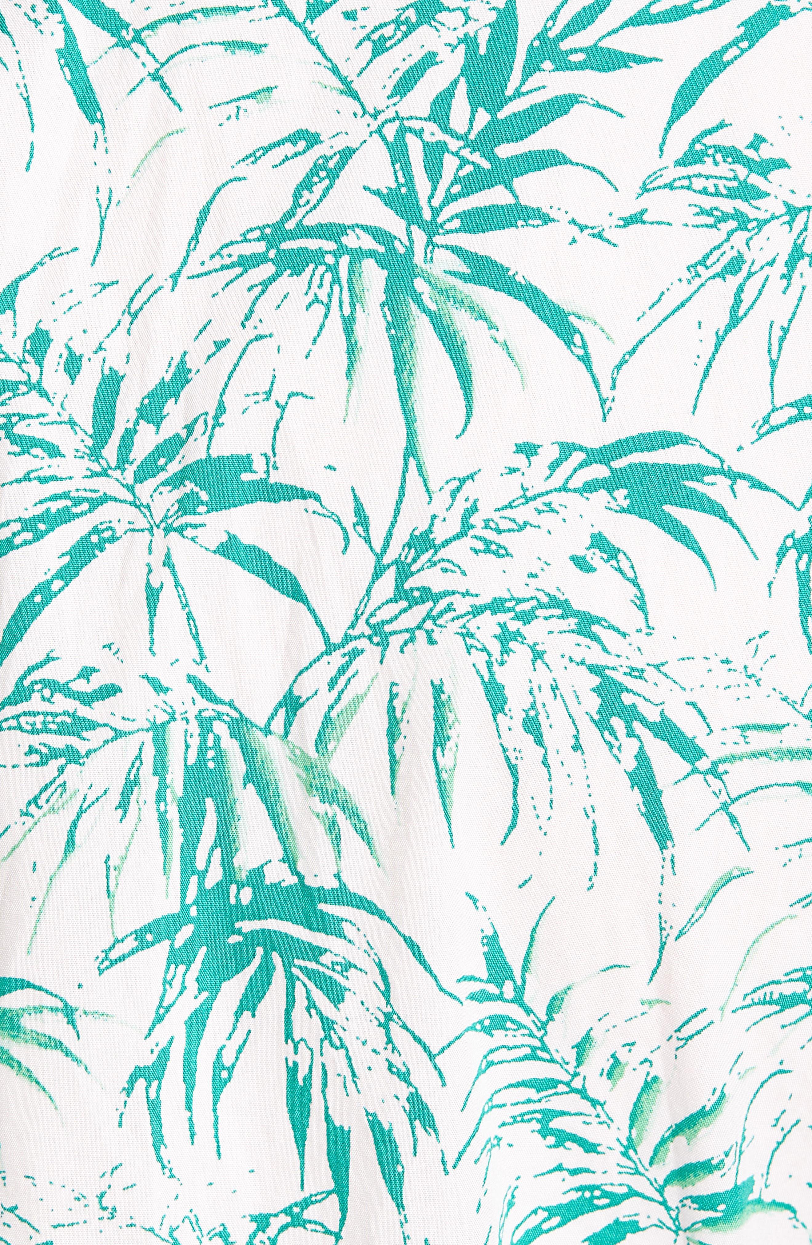 Trim Fit Palm Print Sport Shirt,                             Alternate thumbnail 5, color,                             680