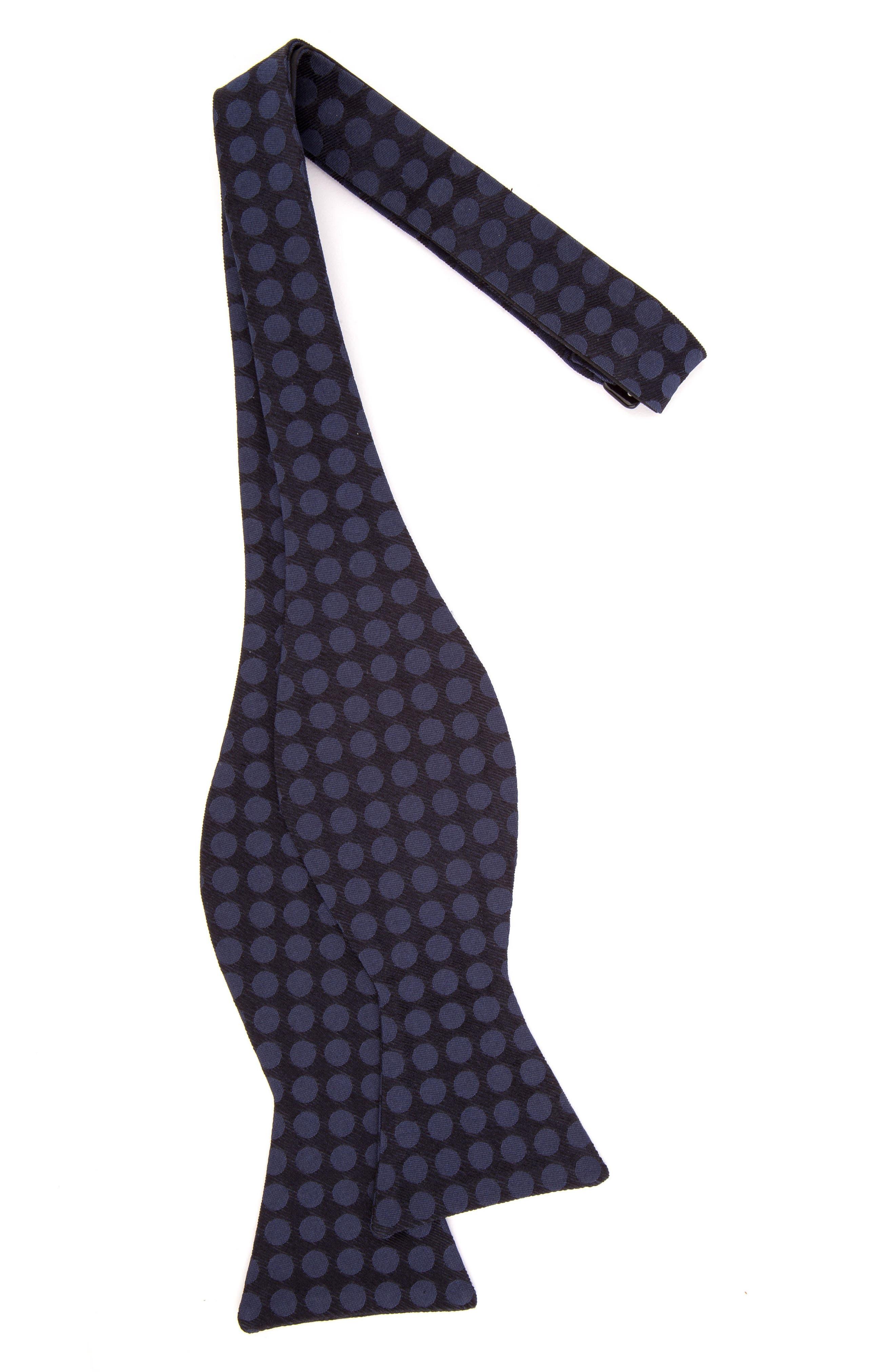 Double Dots Silk Bow Tie,                             Alternate thumbnail 8, color,