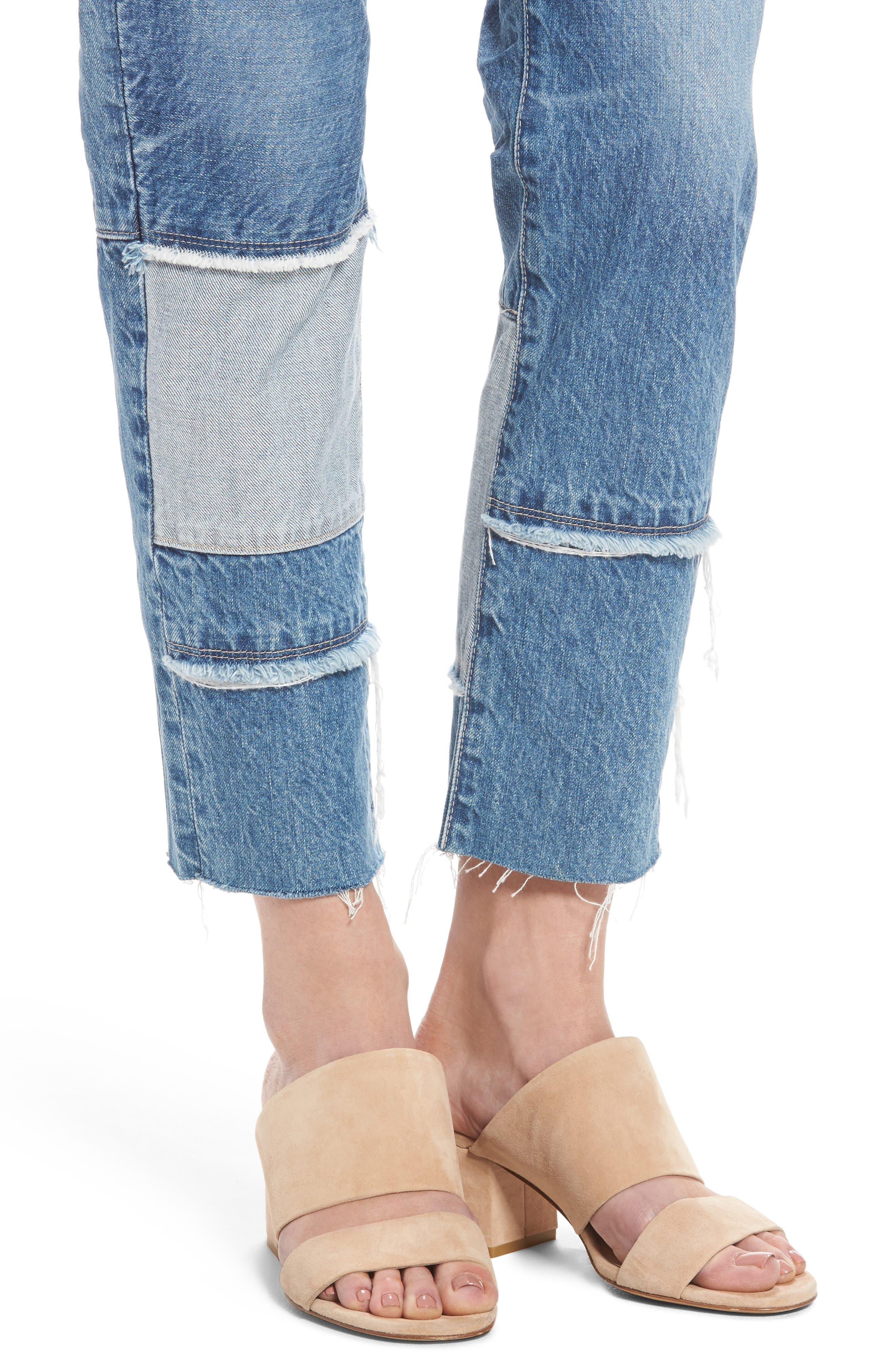 The Ex-Boyfriend Crop Slim Jeans,                             Alternate thumbnail 4, color,                             461