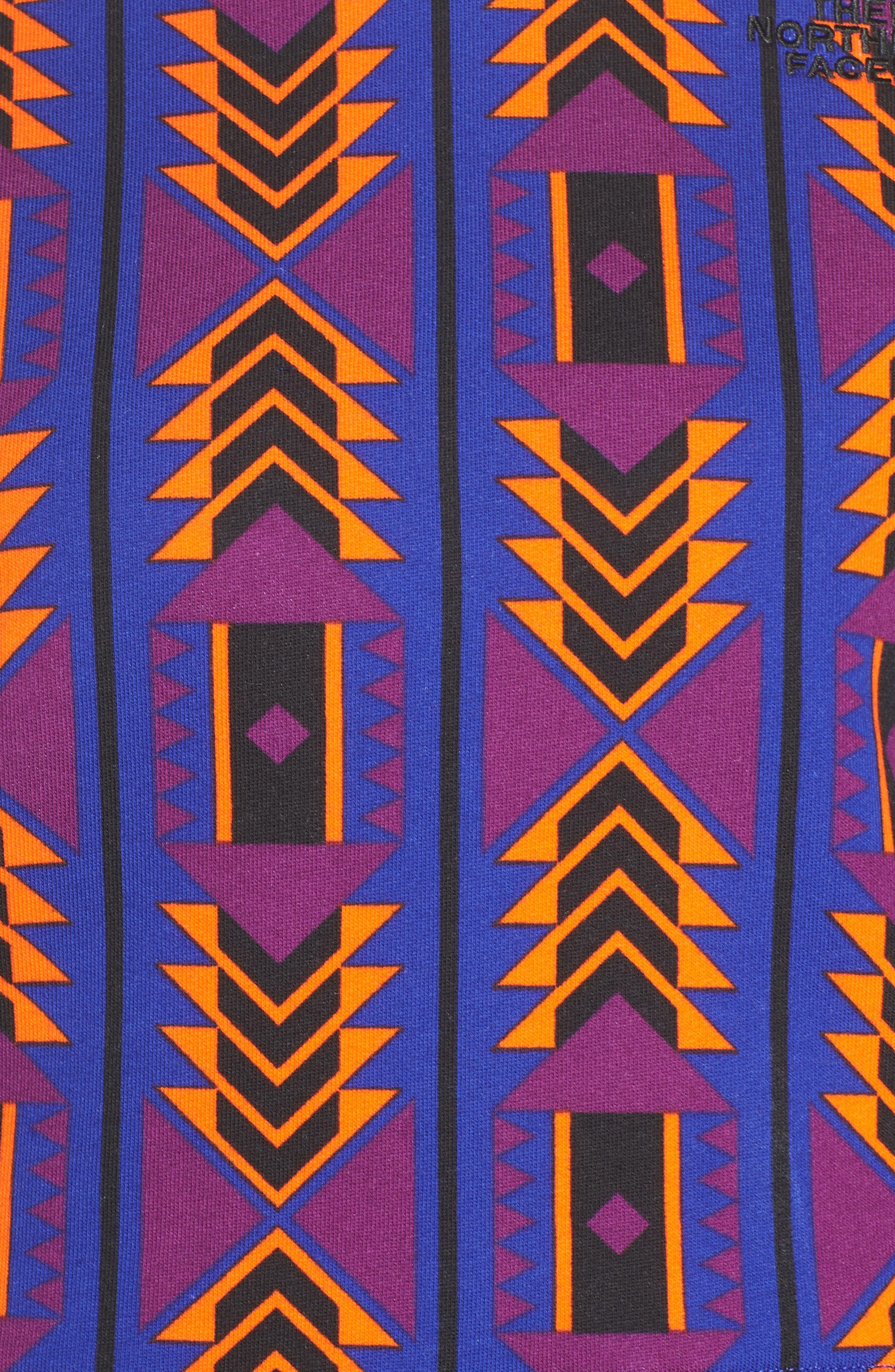 92 Rage Crop Fleece Sweatshirt,                             Alternate thumbnail 6, color,                             AZTEC BLUE 1992 RAGE PRINT