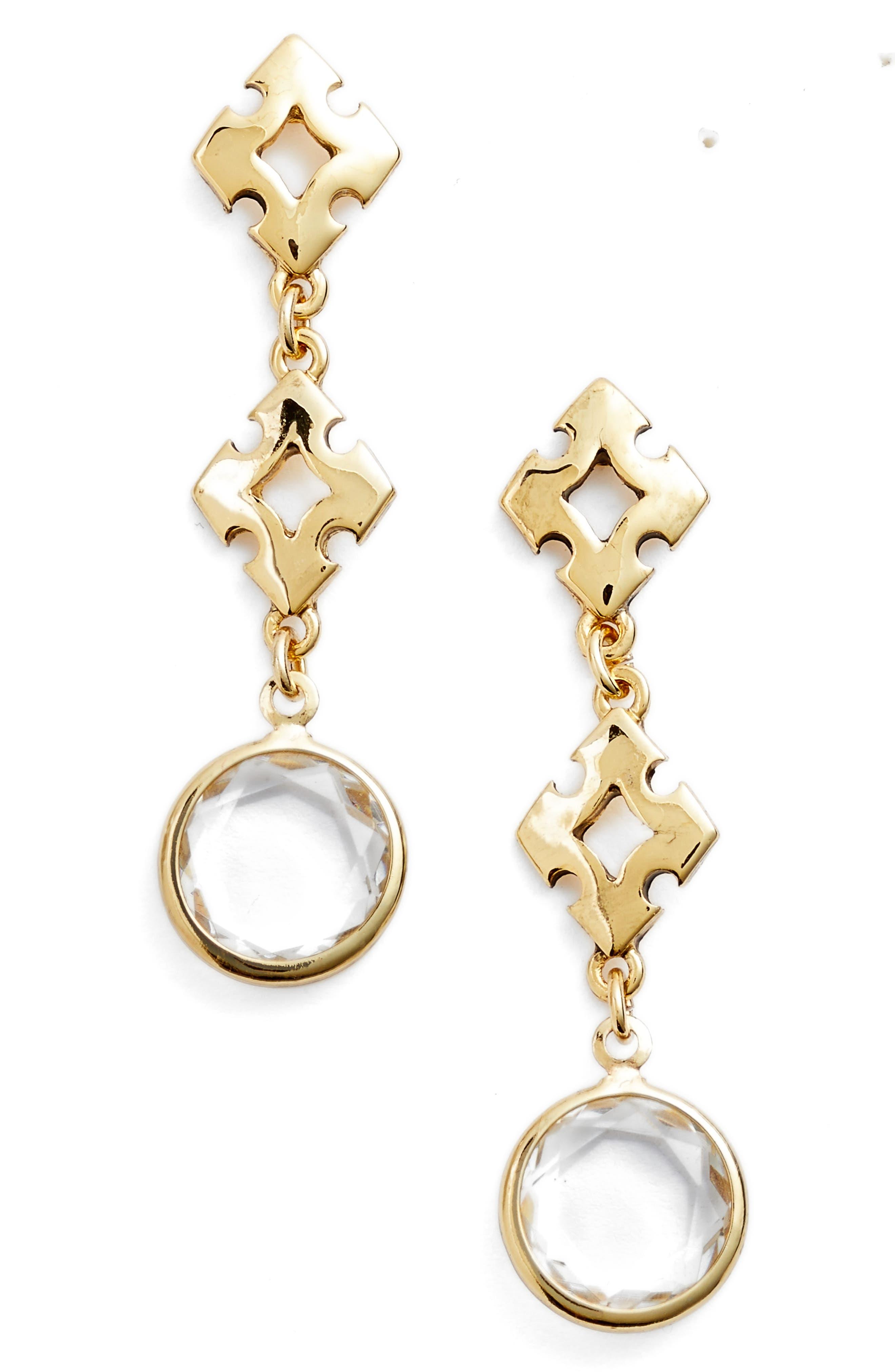 Badgley Mischka Crystal Drop Earrings,                             Main thumbnail 1, color,                             710
