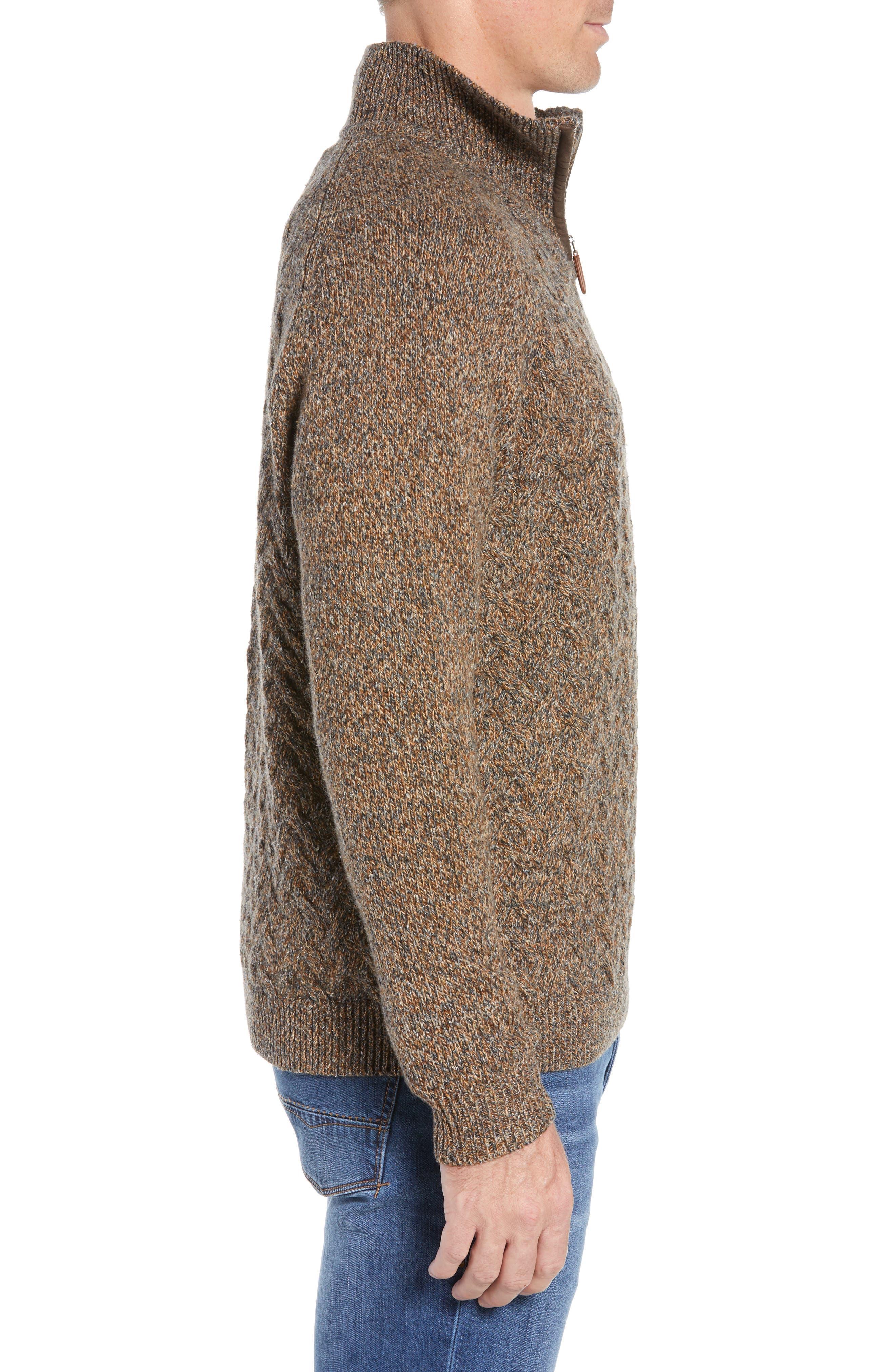 Irazu Half Zip Sweater,                             Alternate thumbnail 3, color,                             201