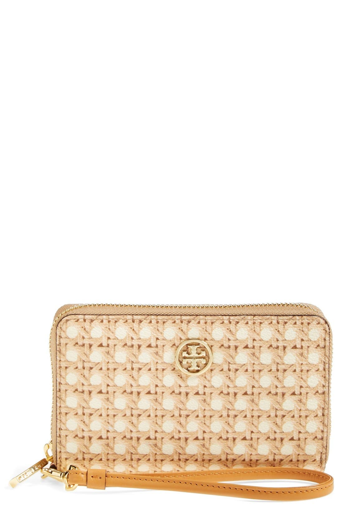 TORY BURCH 'Robinson' Smartphone Wristlet, Main, color, 210