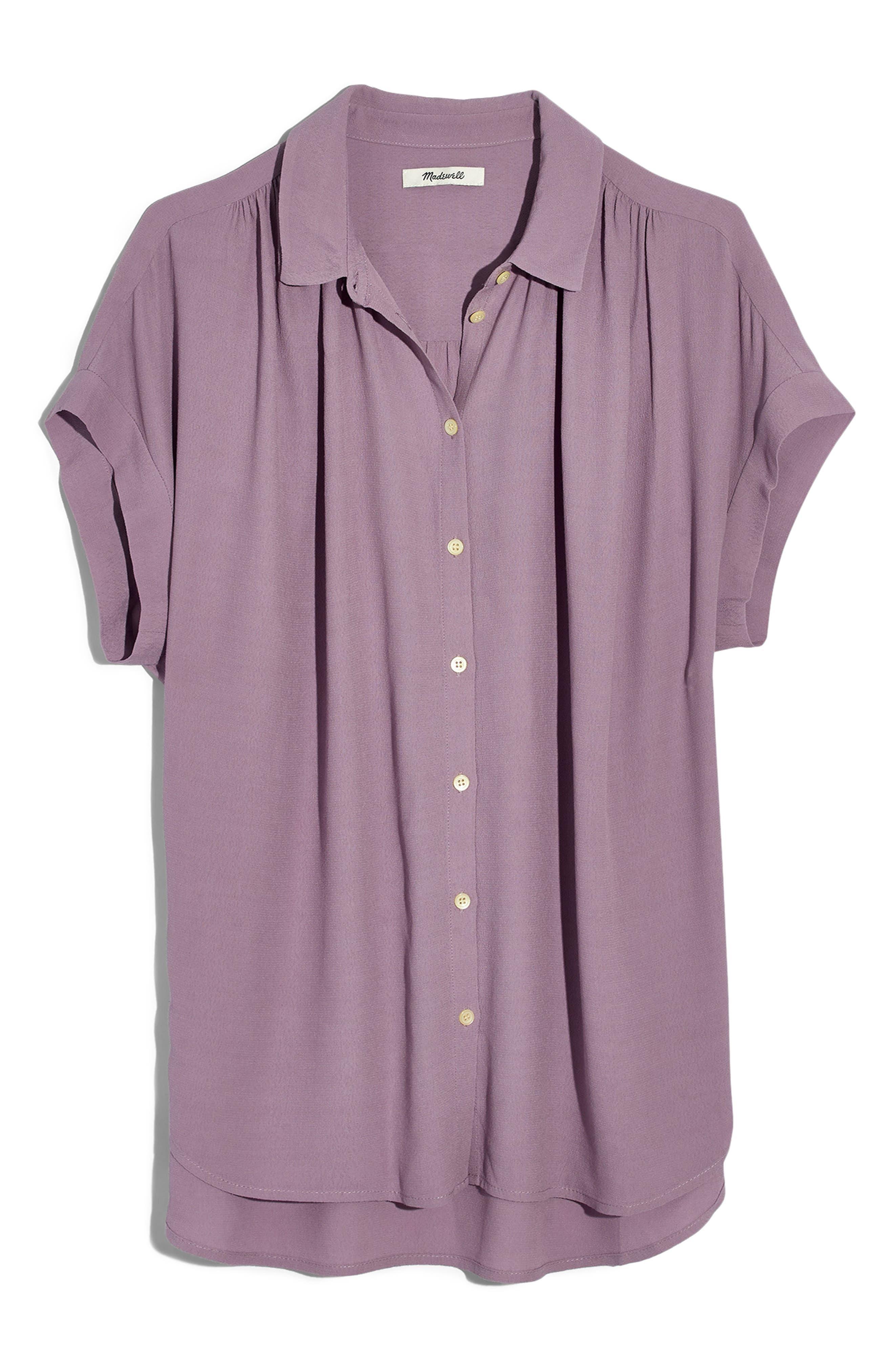 MADEWELL,                             Central Drapey Shirt,                             Main thumbnail 1, color,                             SERENE LAVENDAR
