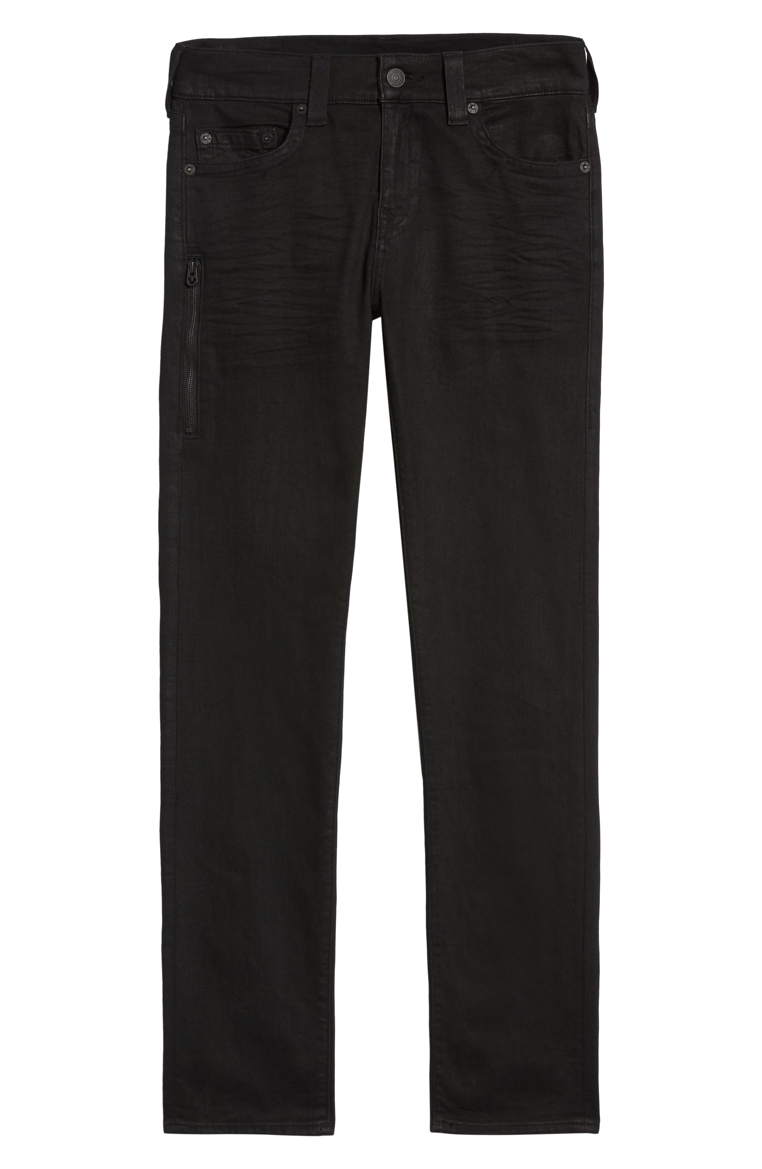 Rocco Skinny Fit Jeans,                             Alternate thumbnail 6, color,                             MIDNIGHT BLACK COATED