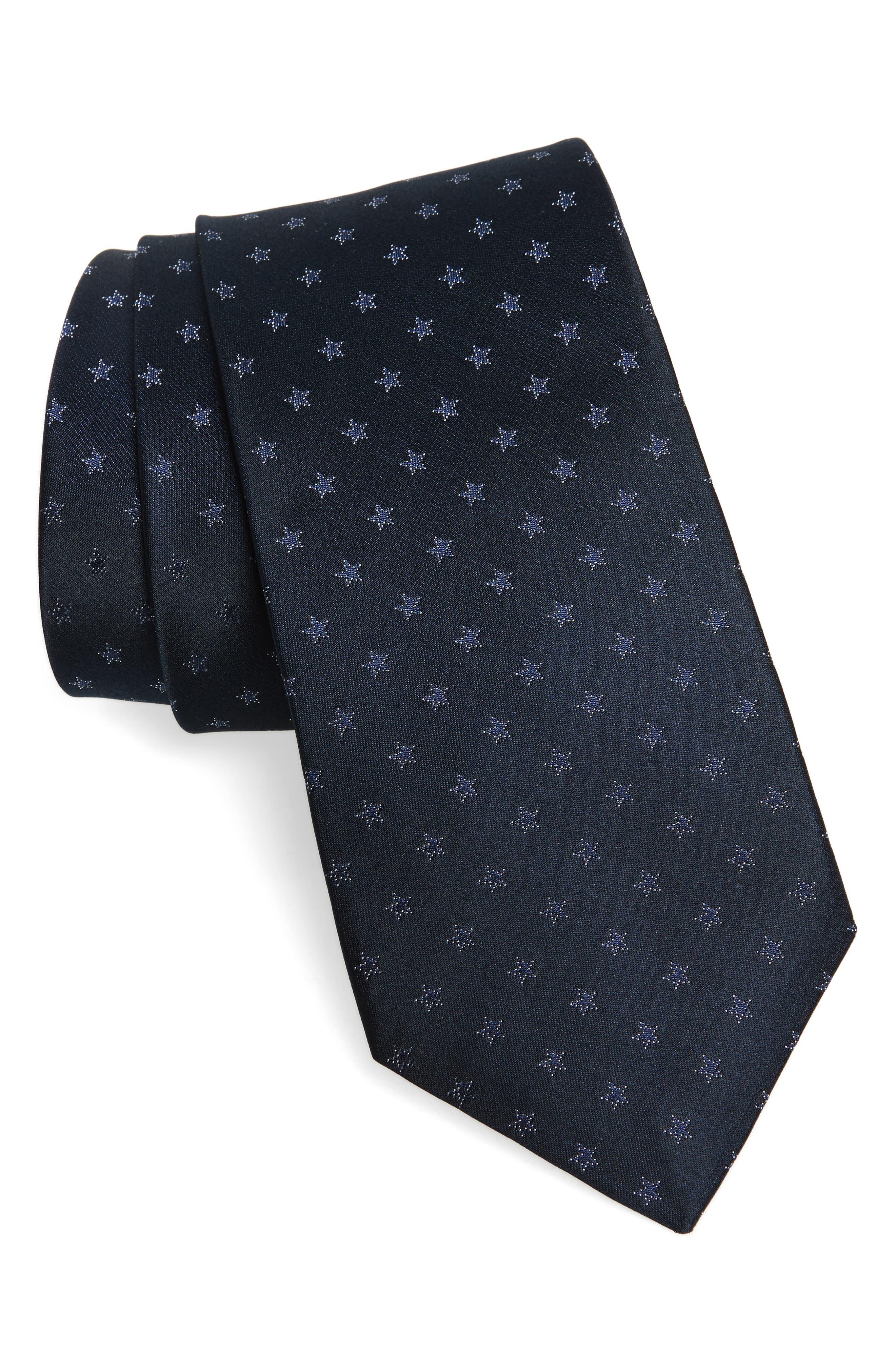 Star Silk Tie,                             Main thumbnail 1, color,                             405