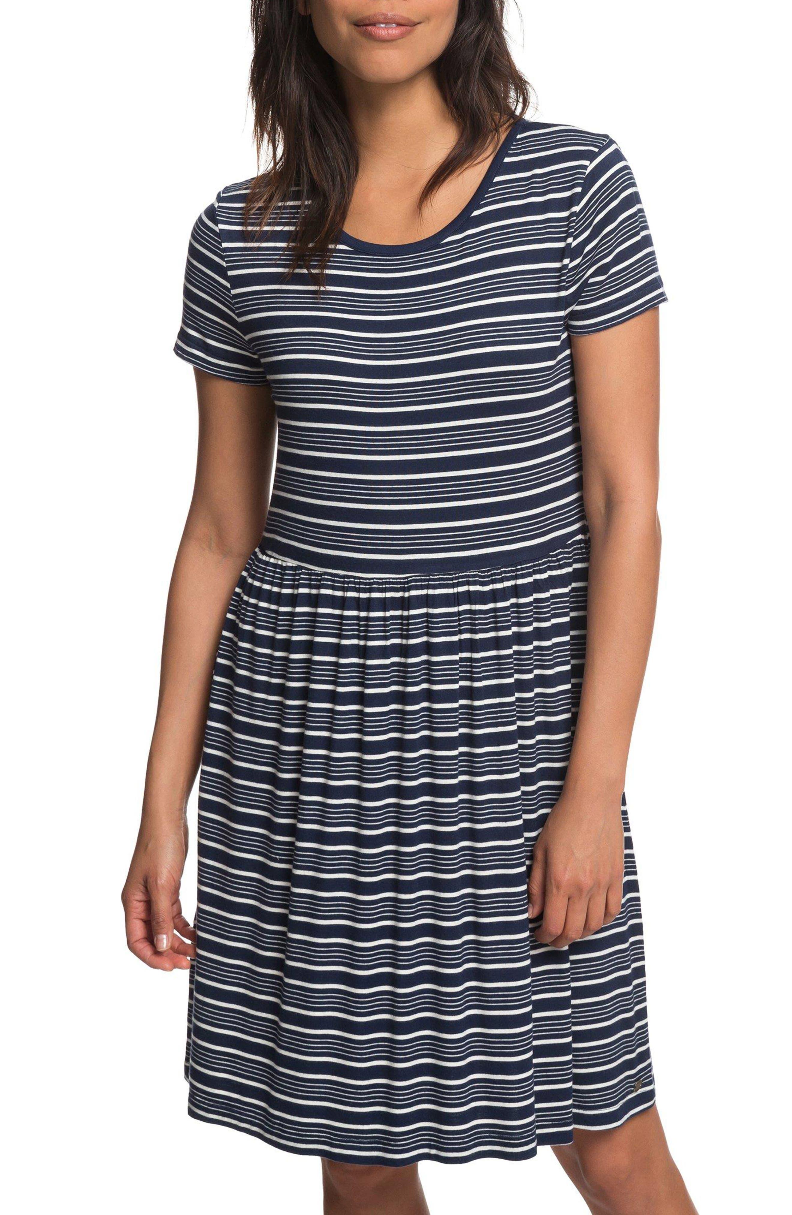 Fame For Glory Stripe T-Shirt Dress,                             Main thumbnail 1, color,                             400