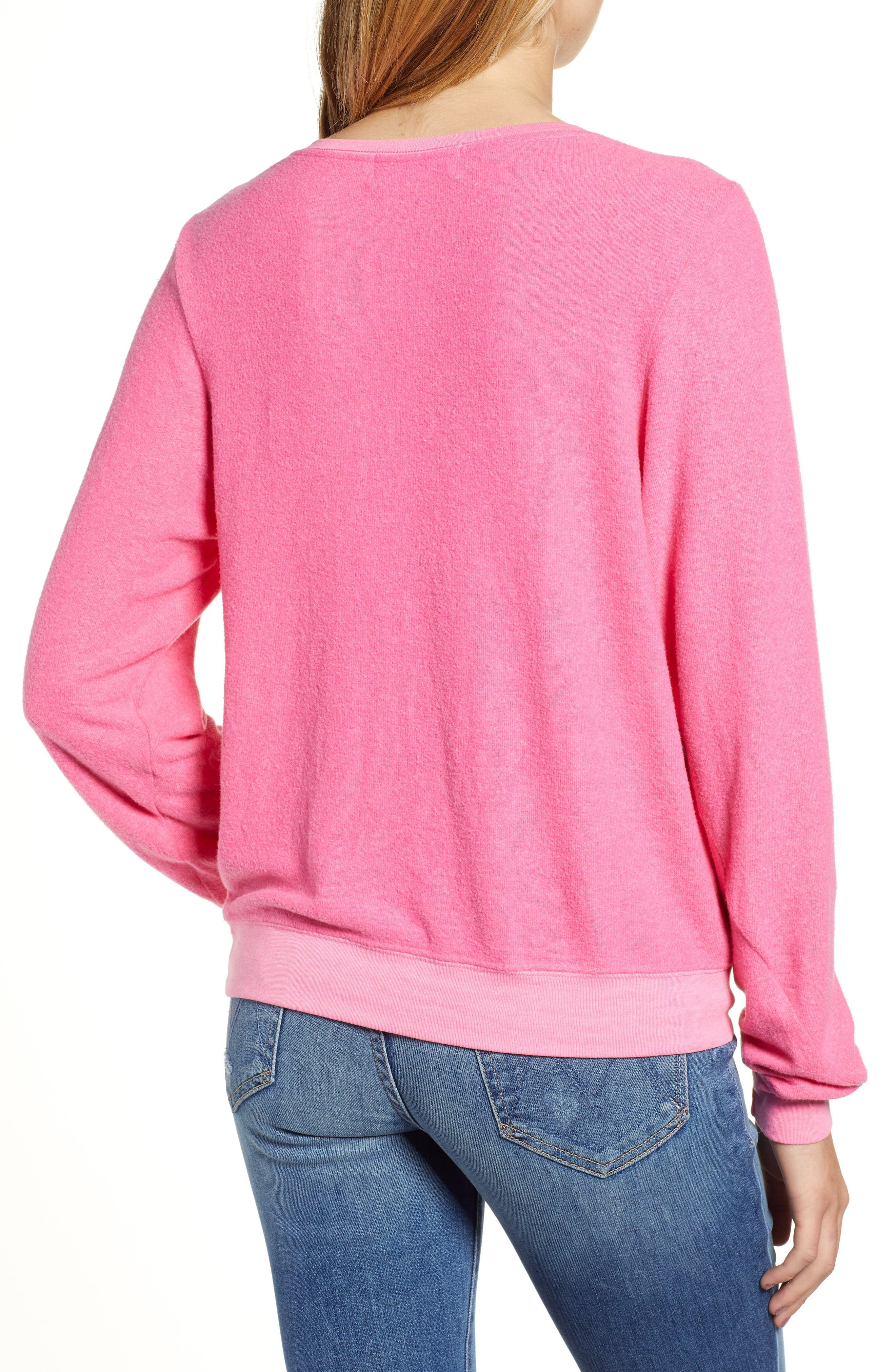 Baggy Beach Jumper - Champagne Superhero Pullover,                             Alternate thumbnail 2, color,                             NEON MAGENTA