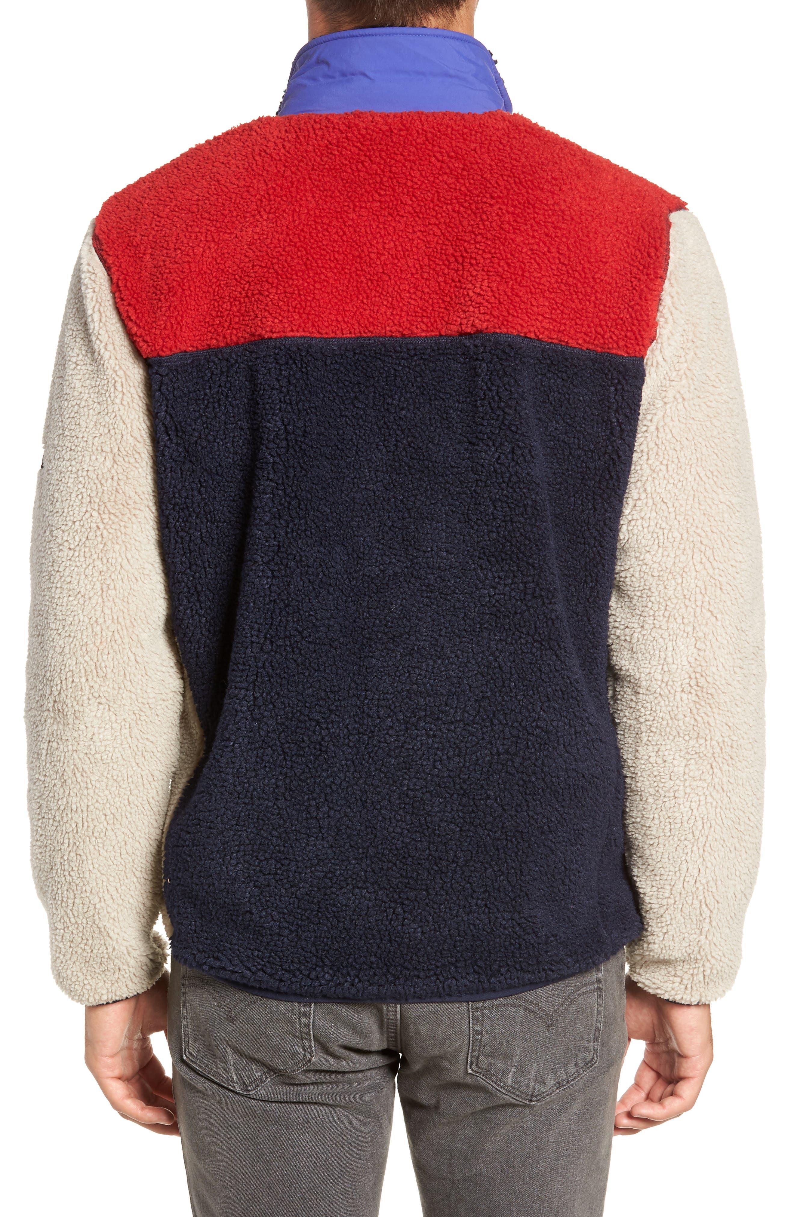 Mattawa Colorblock Fleece Zip Jacket,                             Alternate thumbnail 2, color,                             TAN