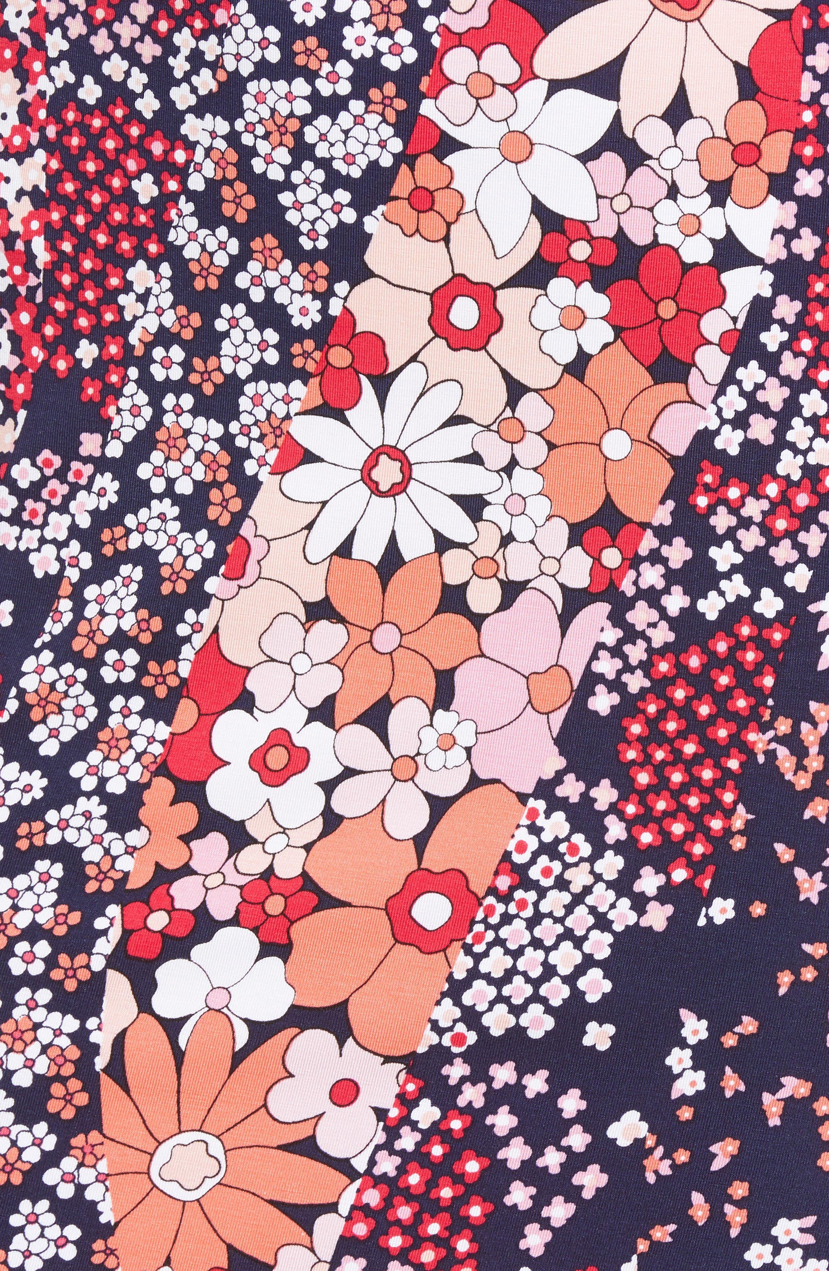Print Floral Dress,                             Alternate thumbnail 5, color,