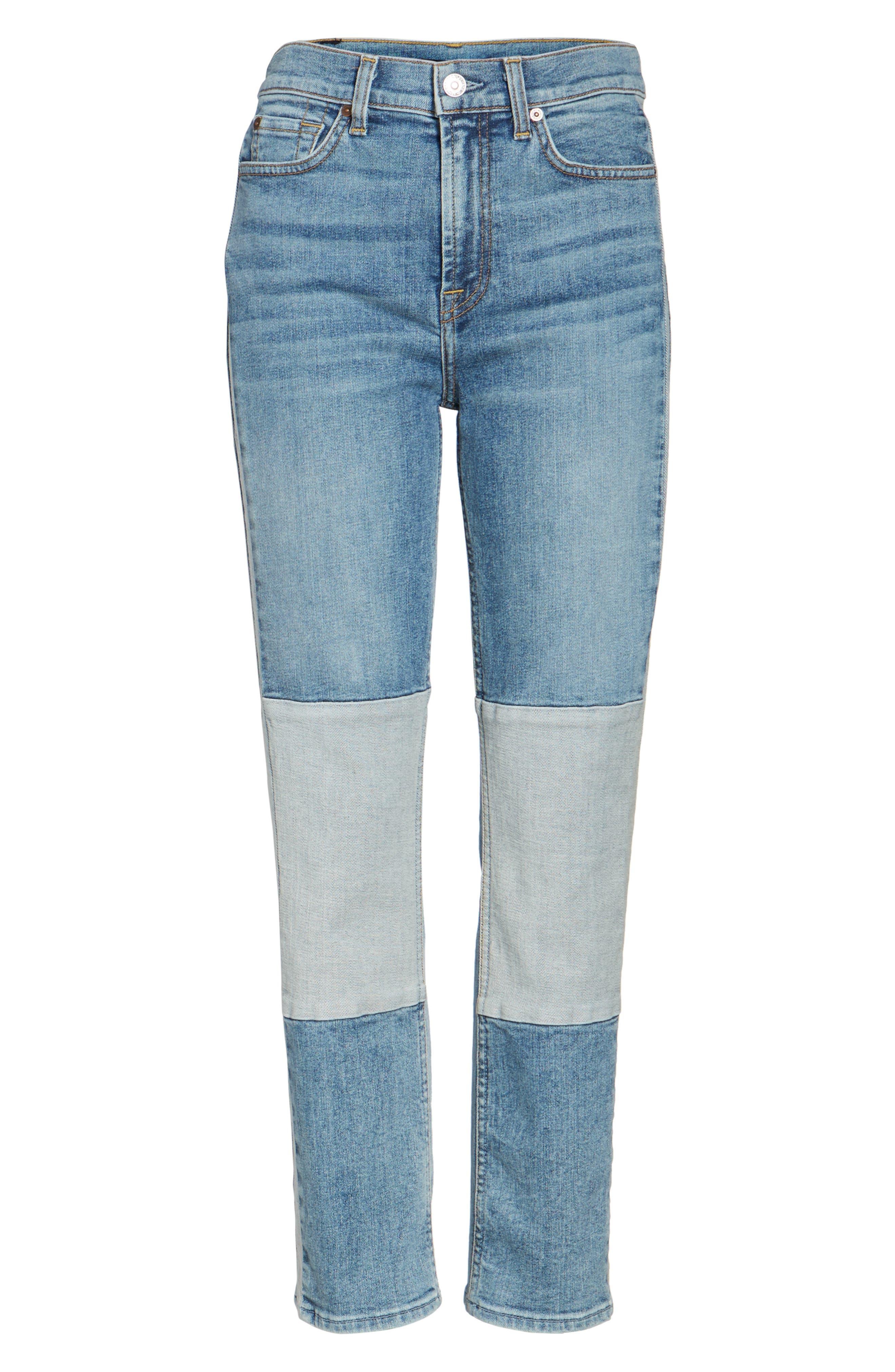 Edie High Waist Crop Jeans,                             Alternate thumbnail 6, color,                             400
