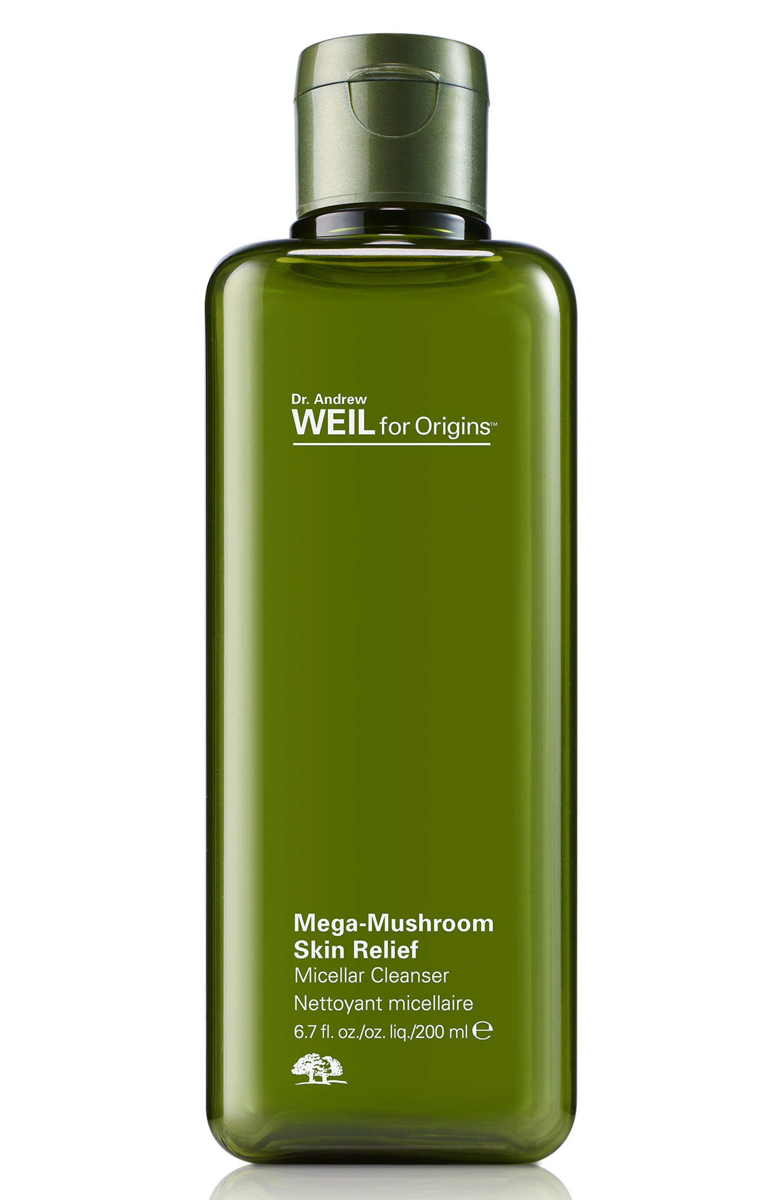 Dr. Andrew Weil for Origins<sup>™</sup> Mega-Mushroom Skin Relief Micellar Cleanser,                             Alternate thumbnail 2, color,                             NO COLOR