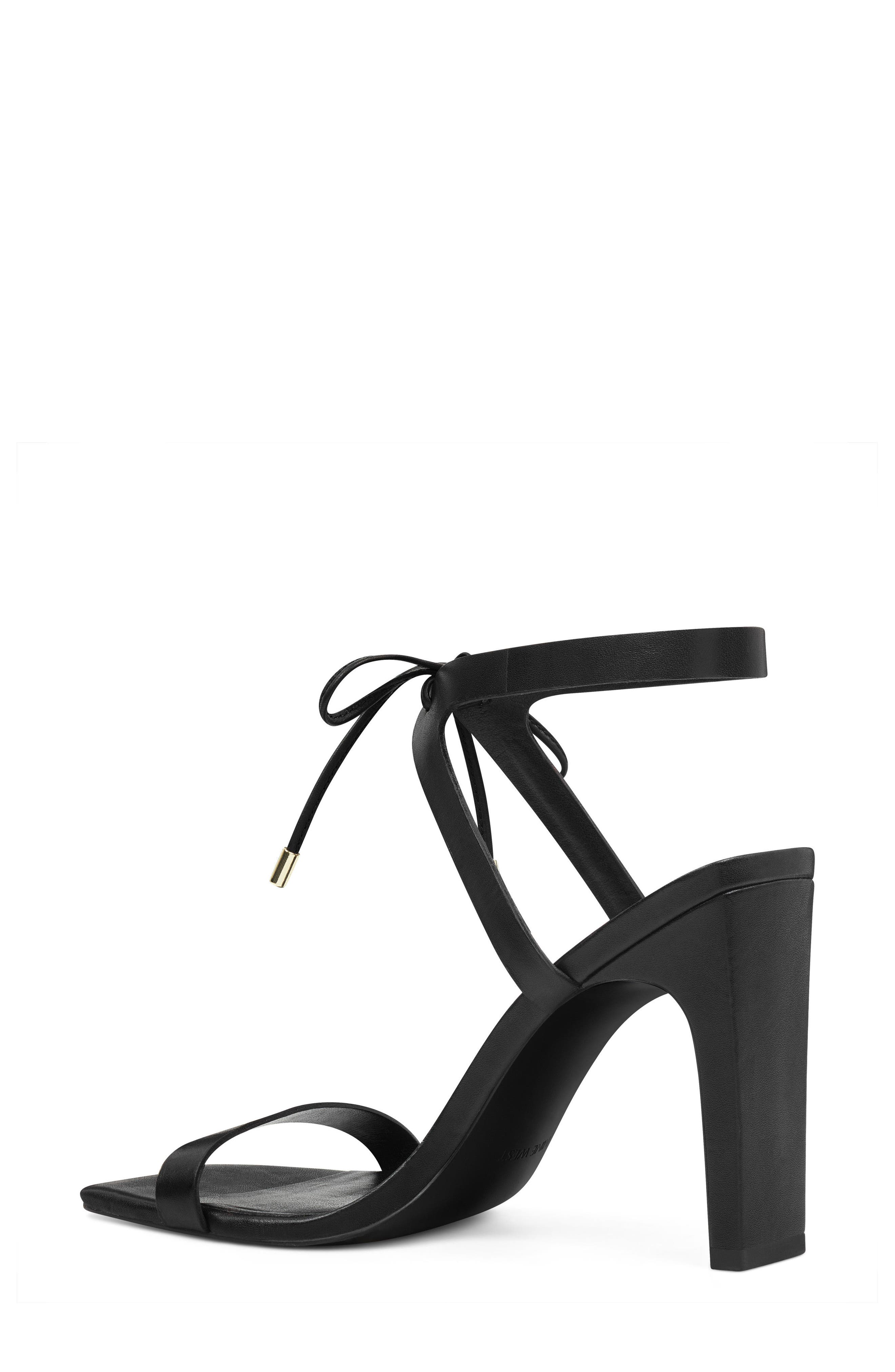 Longitano Squared Toe Sandal,                             Alternate thumbnail 2, color,                             BLACK LEATHER