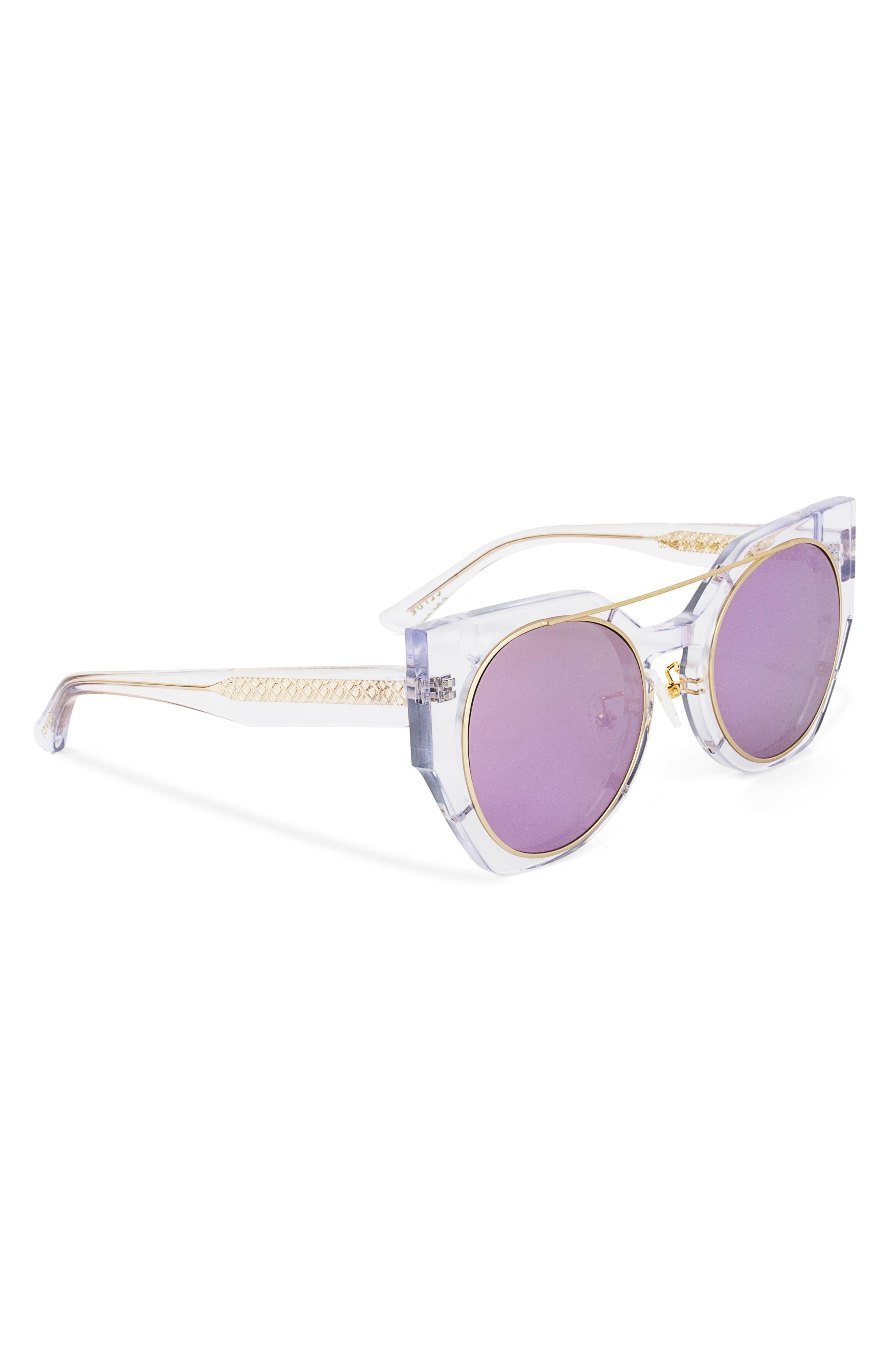 Olive 51mm Polarized Cat Eye Sunglasses,                             Alternate thumbnail 8, color,