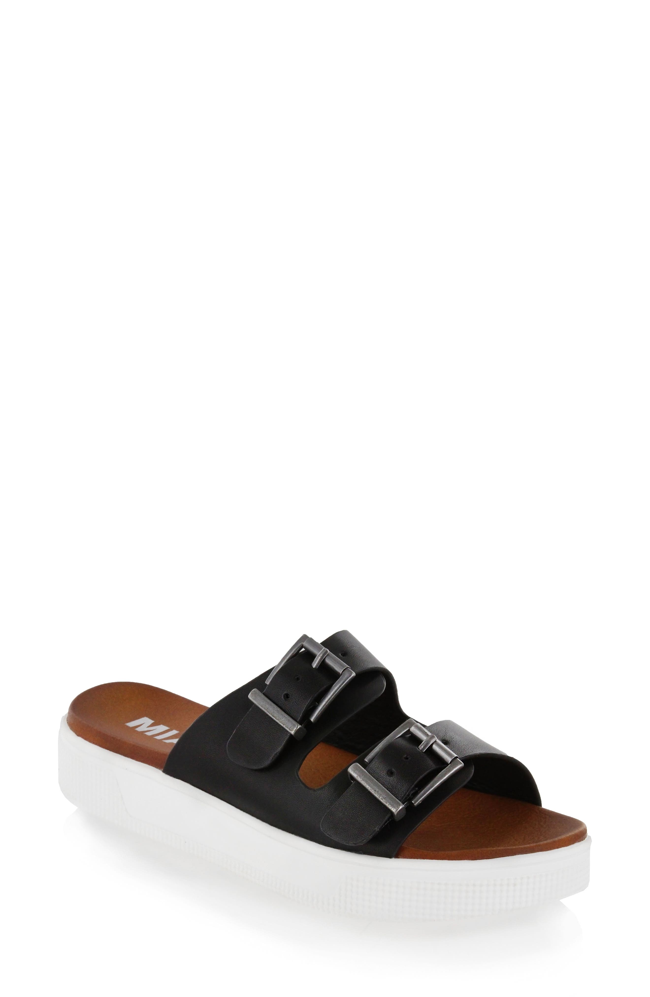 Venessa Platform Slide Sandal,                             Main thumbnail 1, color,                             001