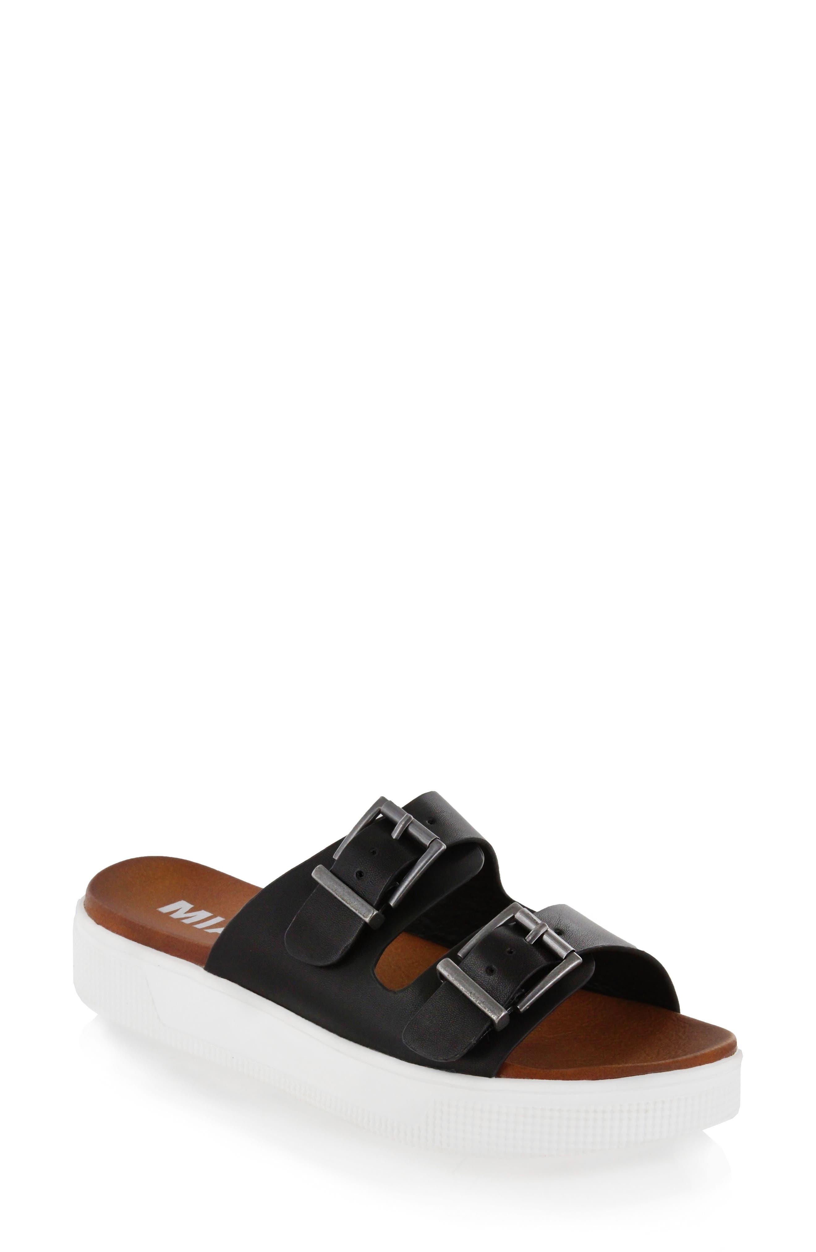 Venessa Platform Slide Sandal,                         Main,                         color, 001