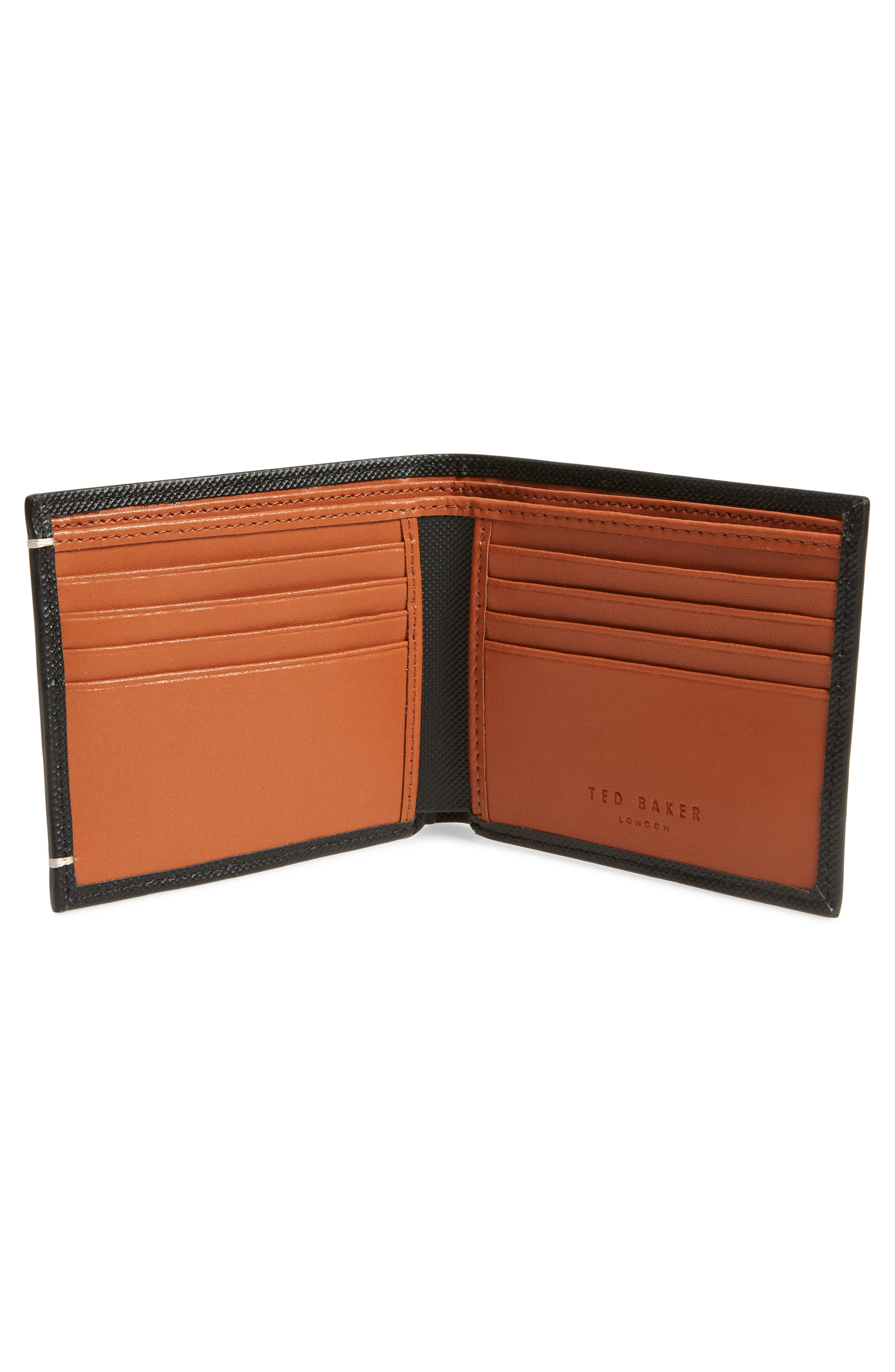 Stormz Leather Wallet,                             Alternate thumbnail 2, color,                             BLACK
