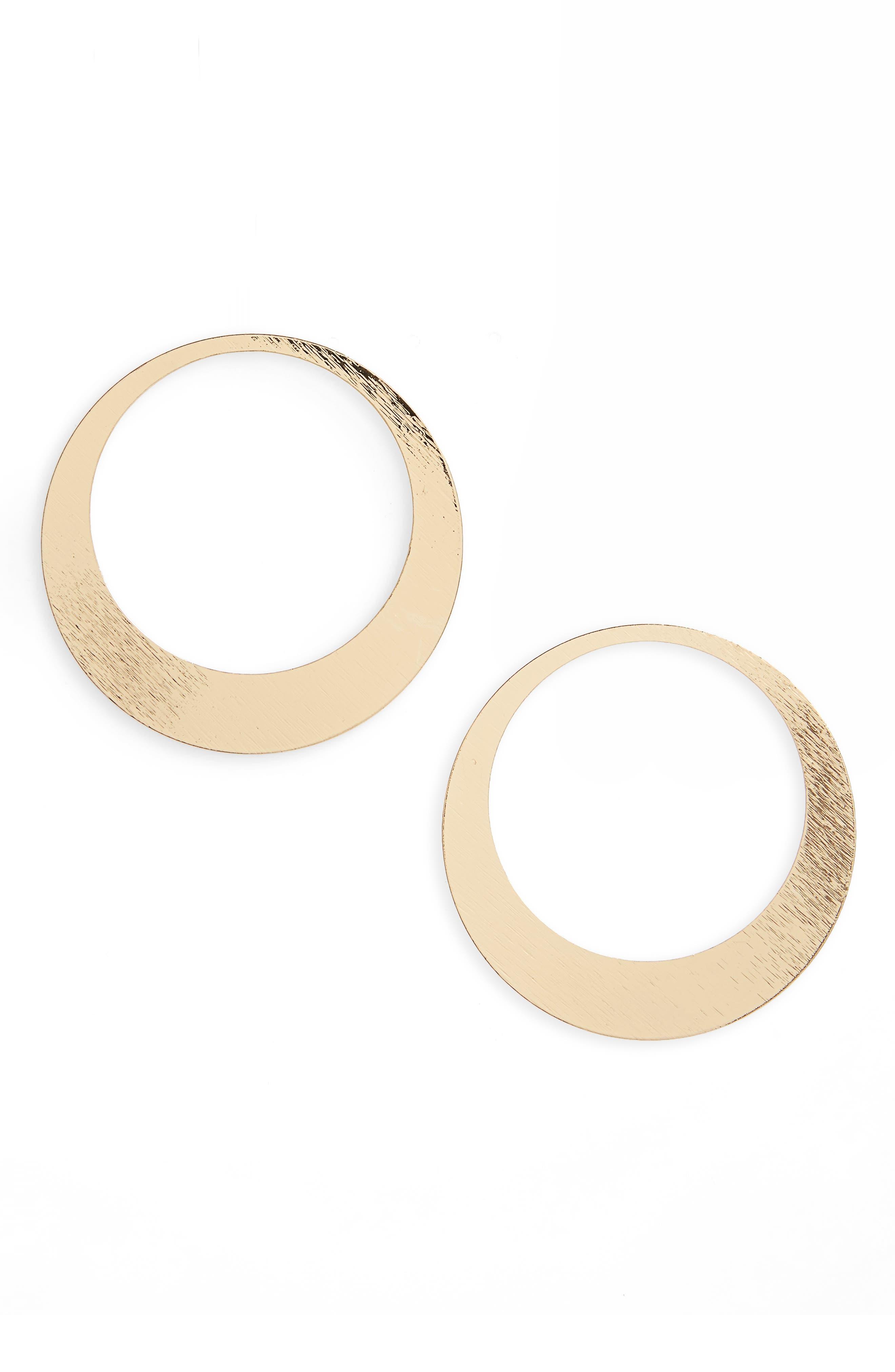 Flat Hoop Earrings,                         Main,                         color, 710