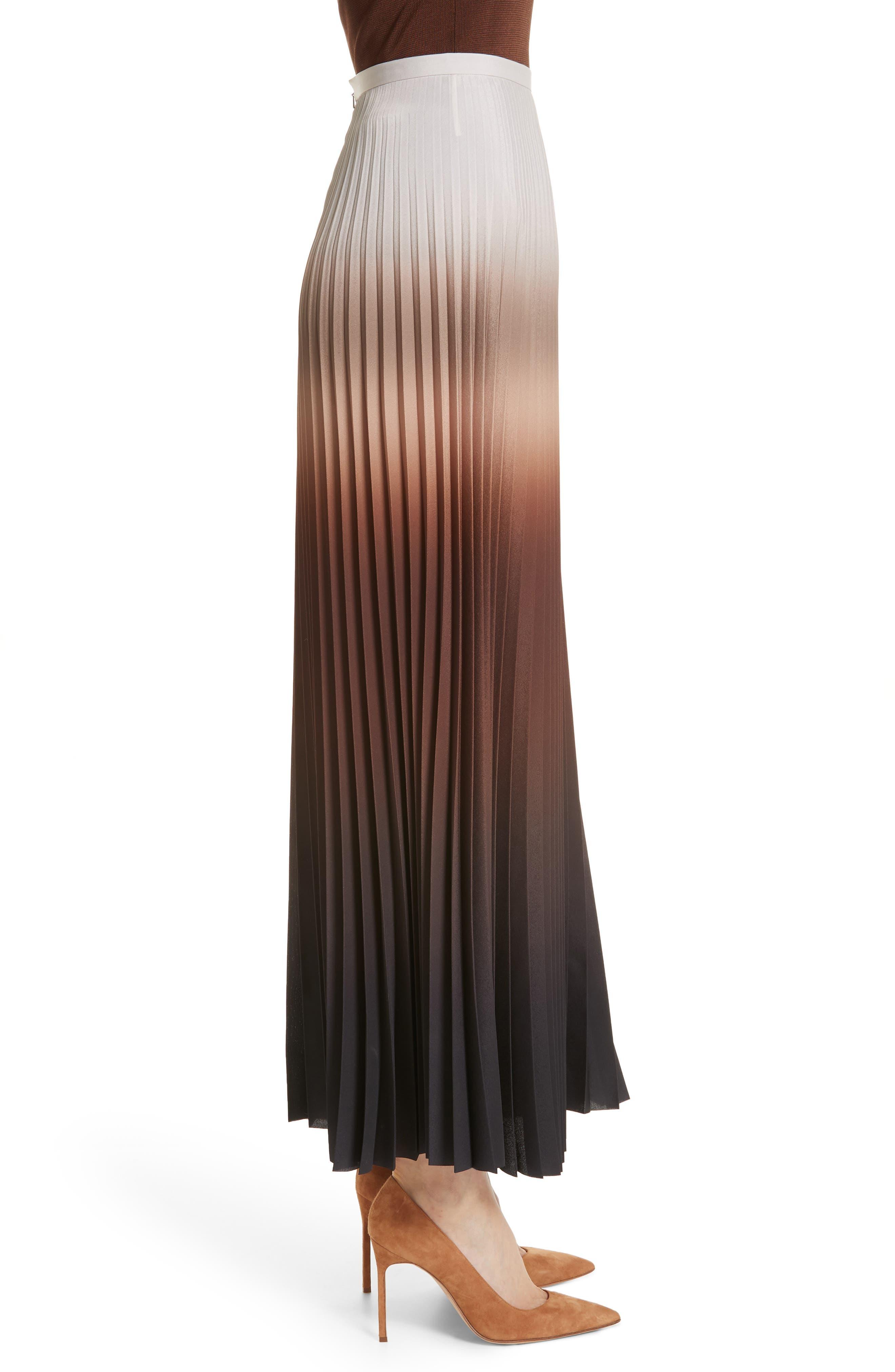 MAX MARA,                             Abatina Maxi Skirt,                             Alternate thumbnail 3, color,                             TOBACCO