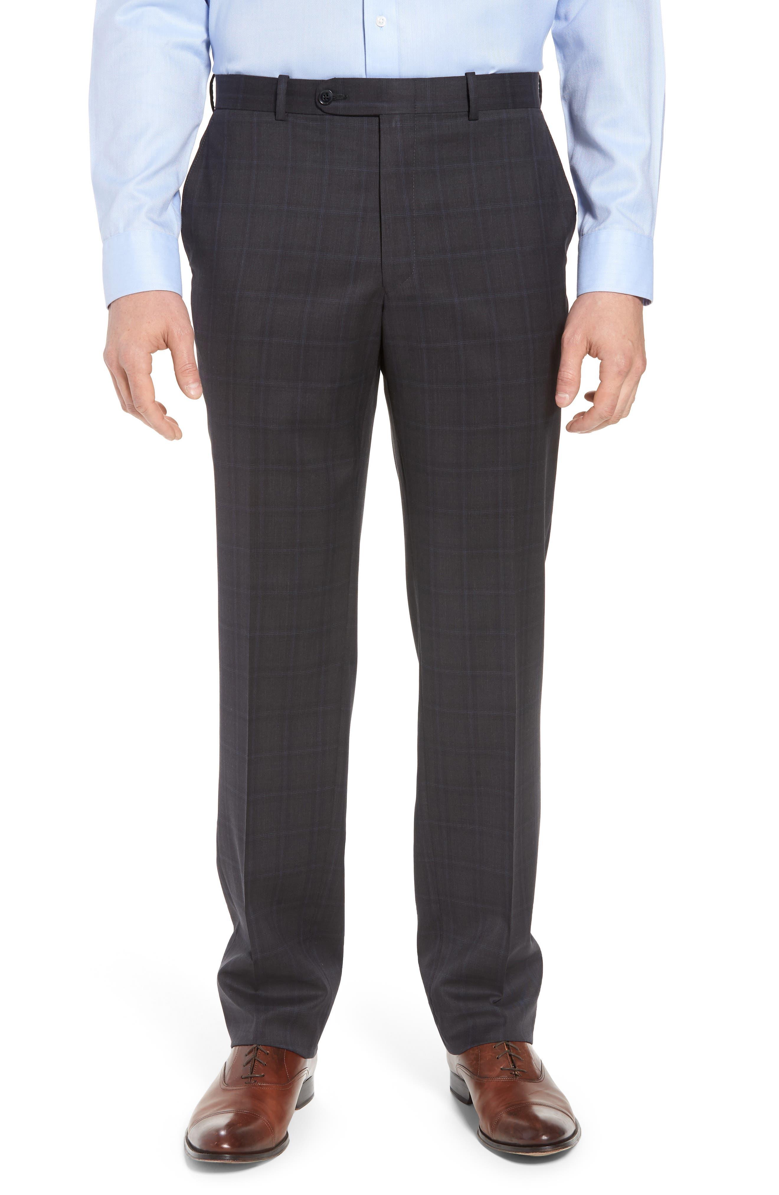 Classic Fit Plaid Wool Suit,                             Alternate thumbnail 6, color,                             020