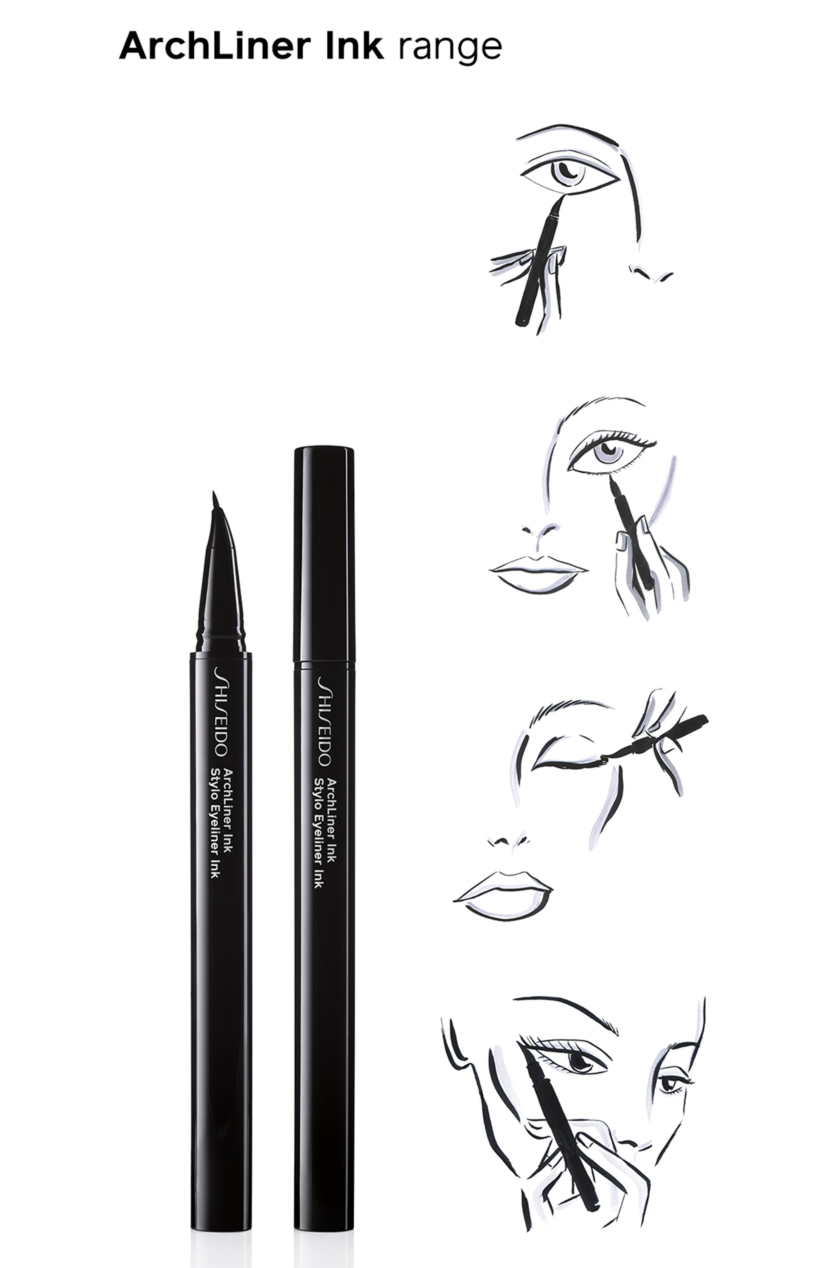 Archliner Ink Eyeliner,                             Alternate thumbnail 3, color,                             SHIBUI BLACK