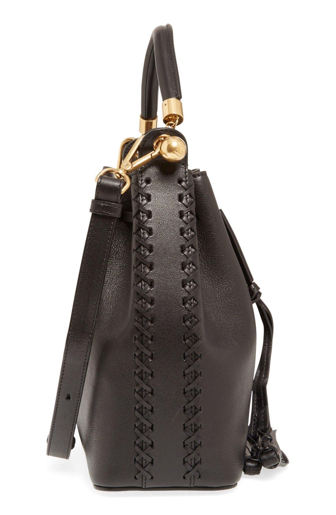 'Medium Gala' Calfskin Bucket Bag,                             Alternate thumbnail 2, color,                             001