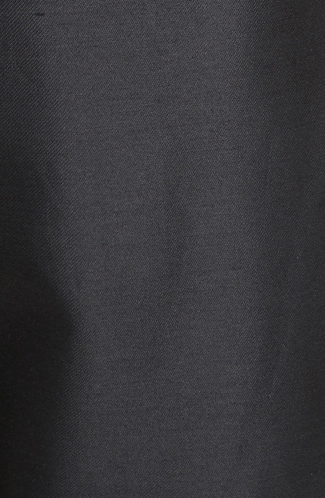 Paperbag Cotton & Silk Trousers,                             Alternate thumbnail 5, color,                             001