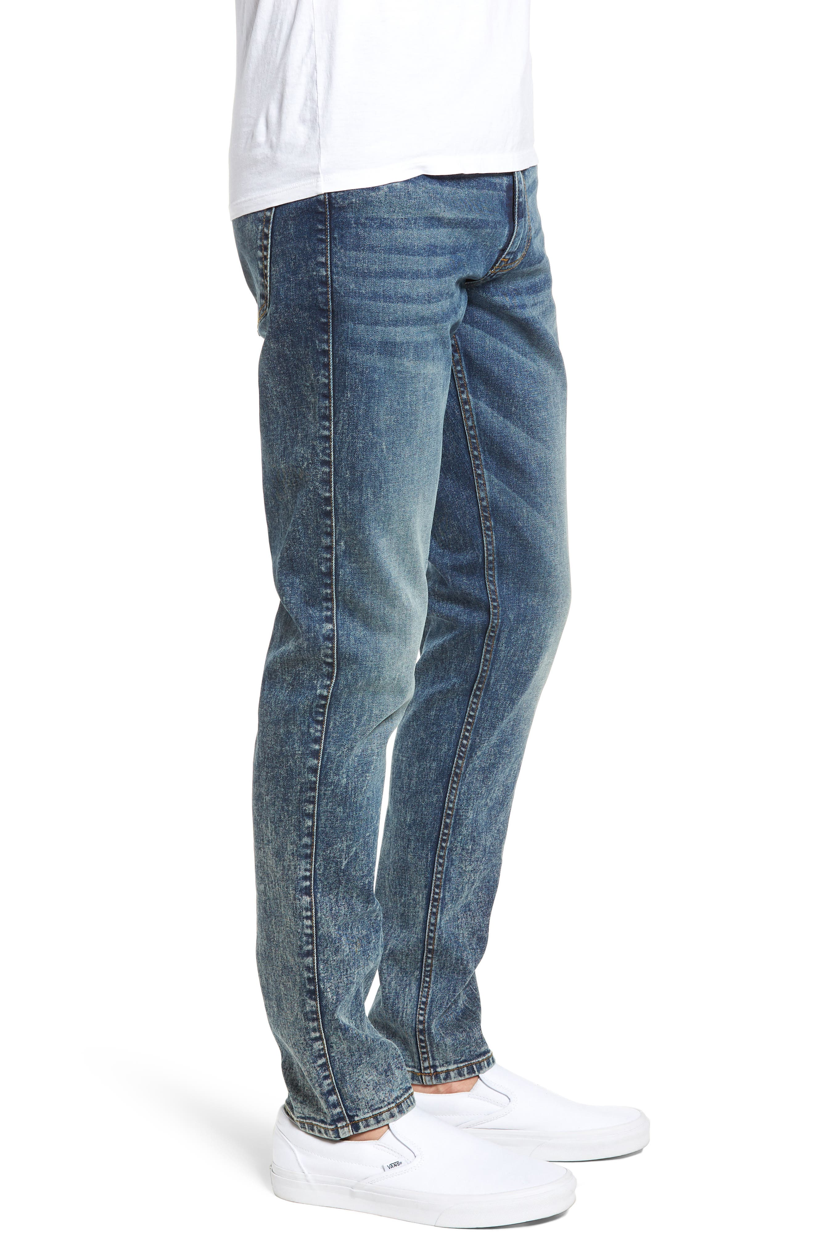 Clark Slim Straight Leg Jeans,                             Alternate thumbnail 3, color,                             DIM BLUE