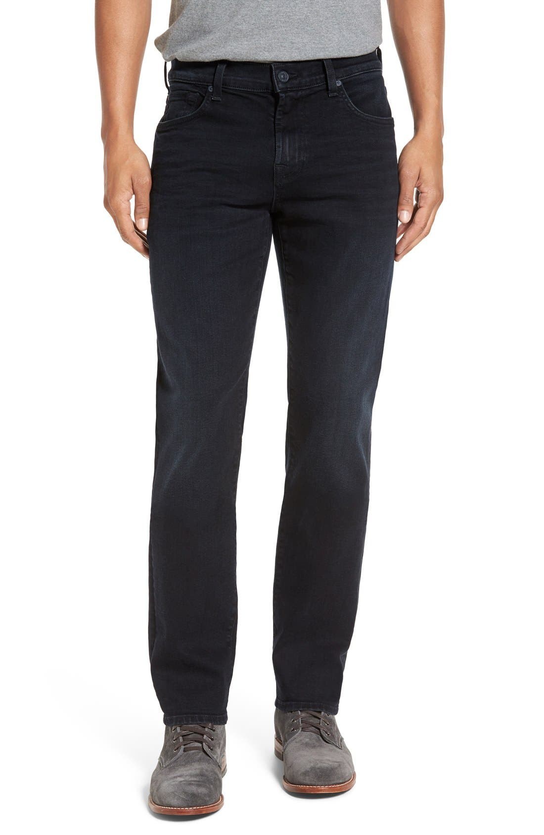 'Slimmy - Luxe Performance' Slim Fit Jeans,                             Main thumbnail 1, color,                             401