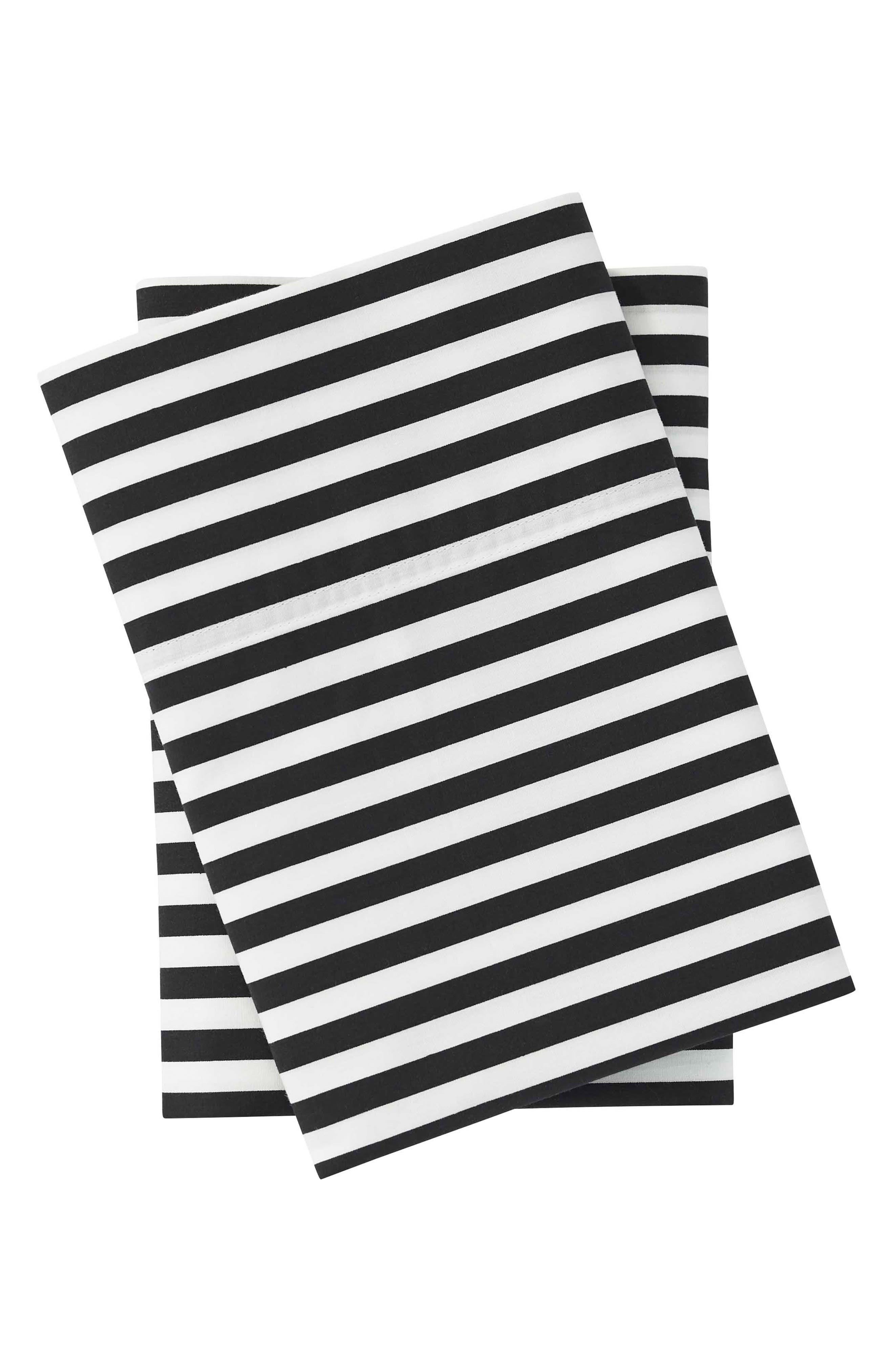 Ajo Black Pillowcases,                             Main thumbnail 1, color,                             BLACK
