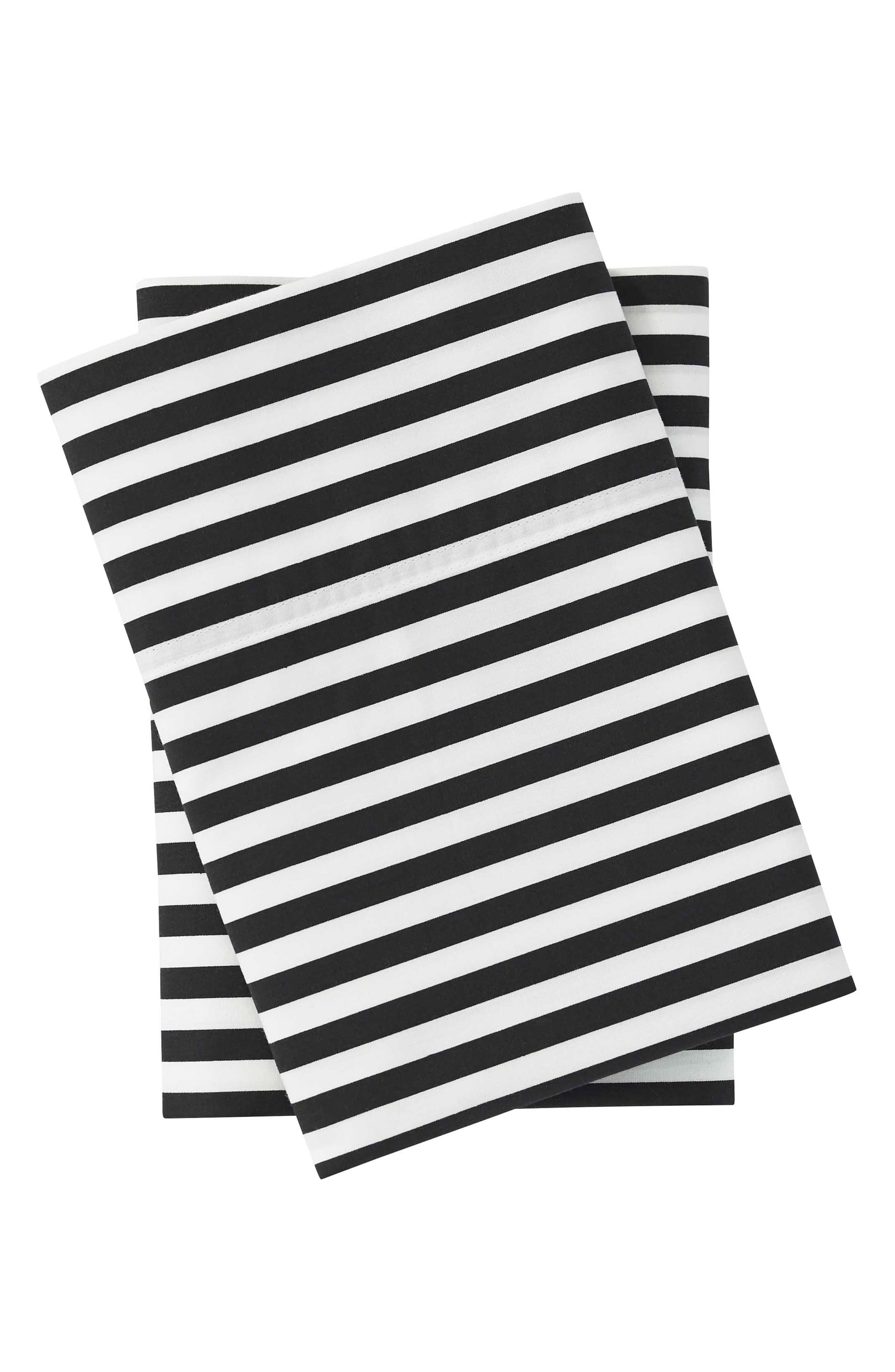 Ajo Black Pillowcases, Main, color, BLACK