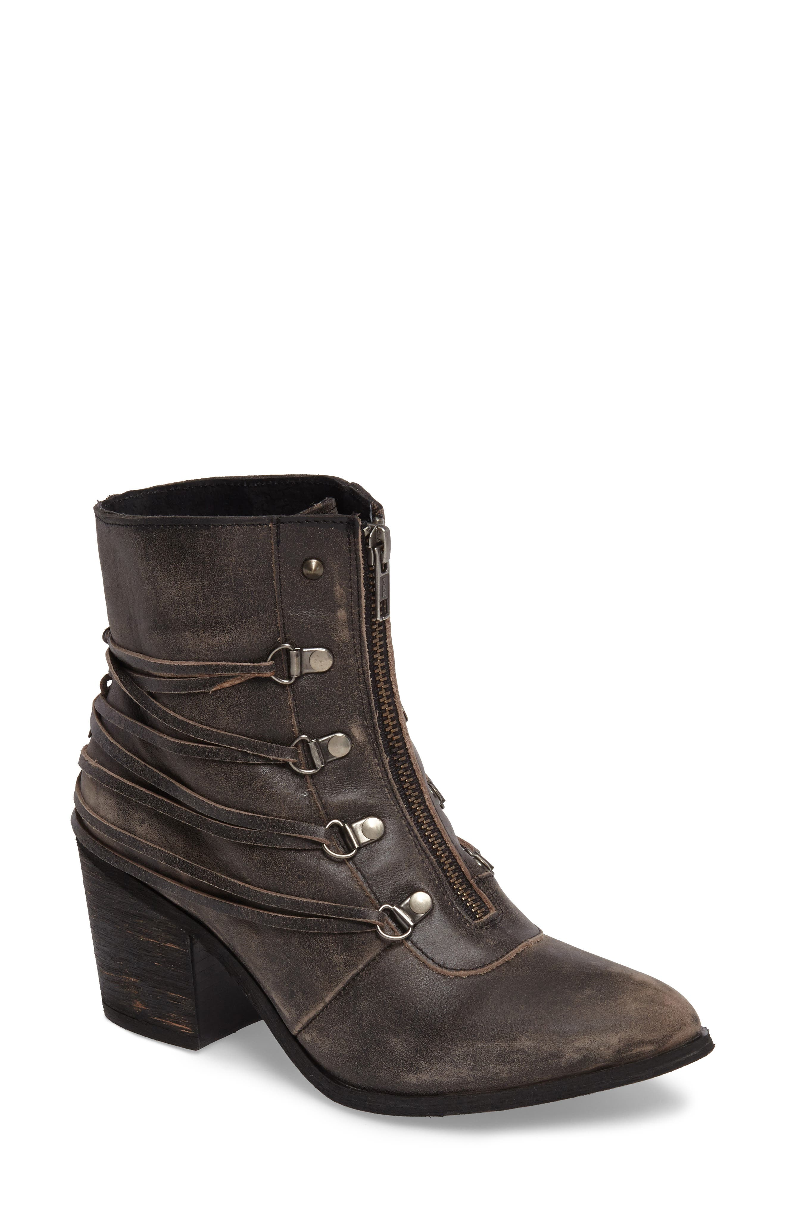 Peacekeeper Lace-Up Bootie,                         Main,                         color, 001