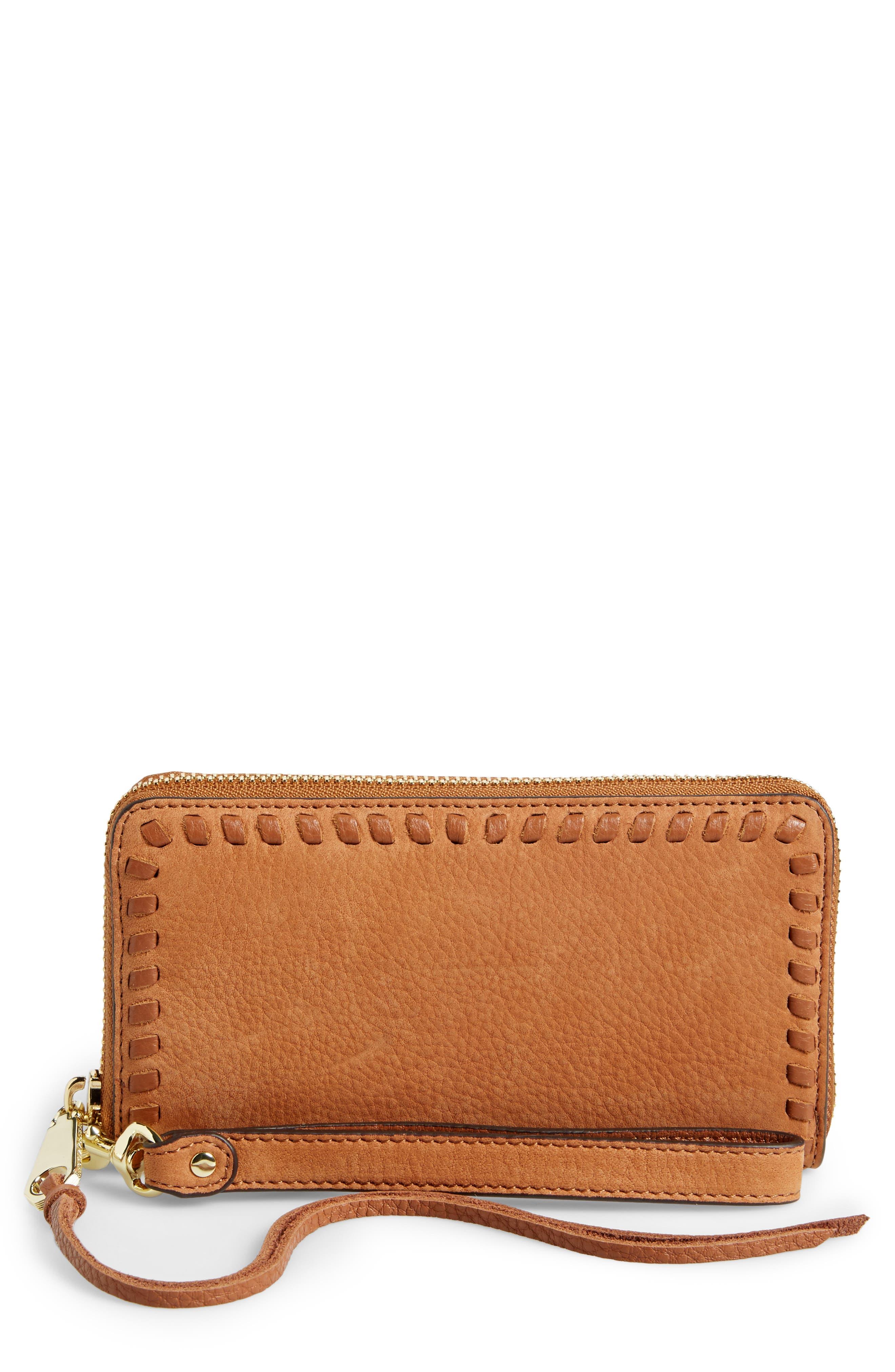 Vanity Nubuck Leather Phone Wallet,                         Main,                         color, 230