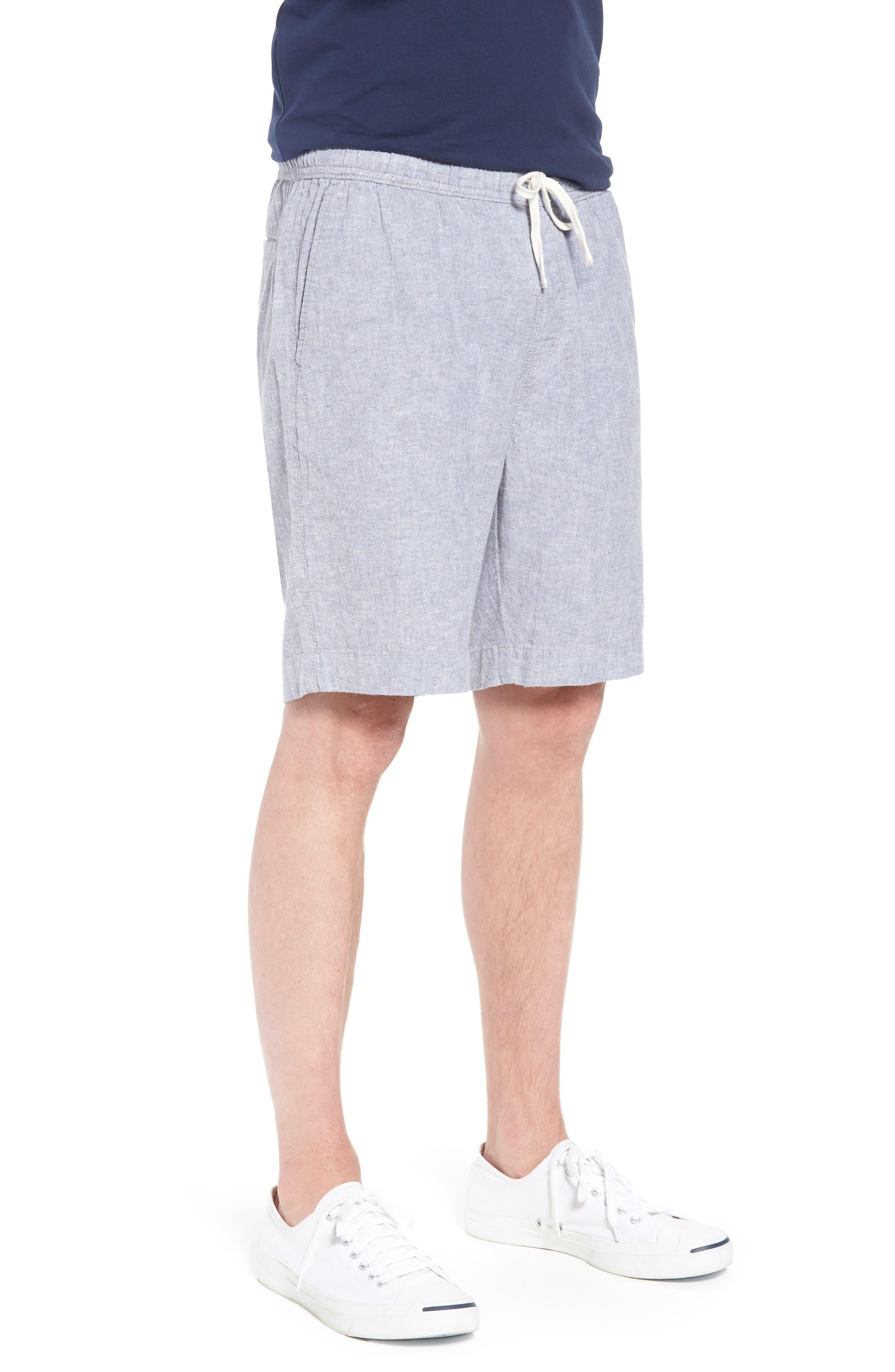 Drawstring Linen Blend Shorts,                             Alternate thumbnail 11, color,