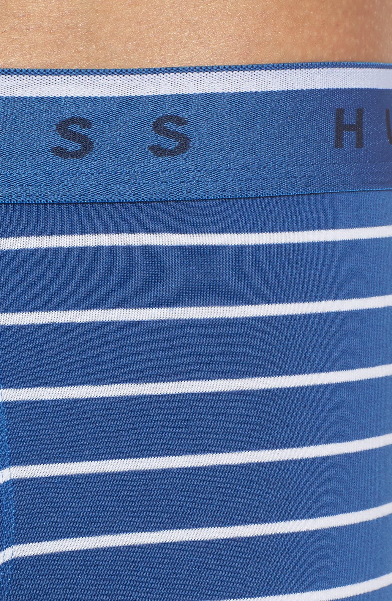 Stripe Boxer Briefs,                             Alternate thumbnail 4, color,                             BLUE