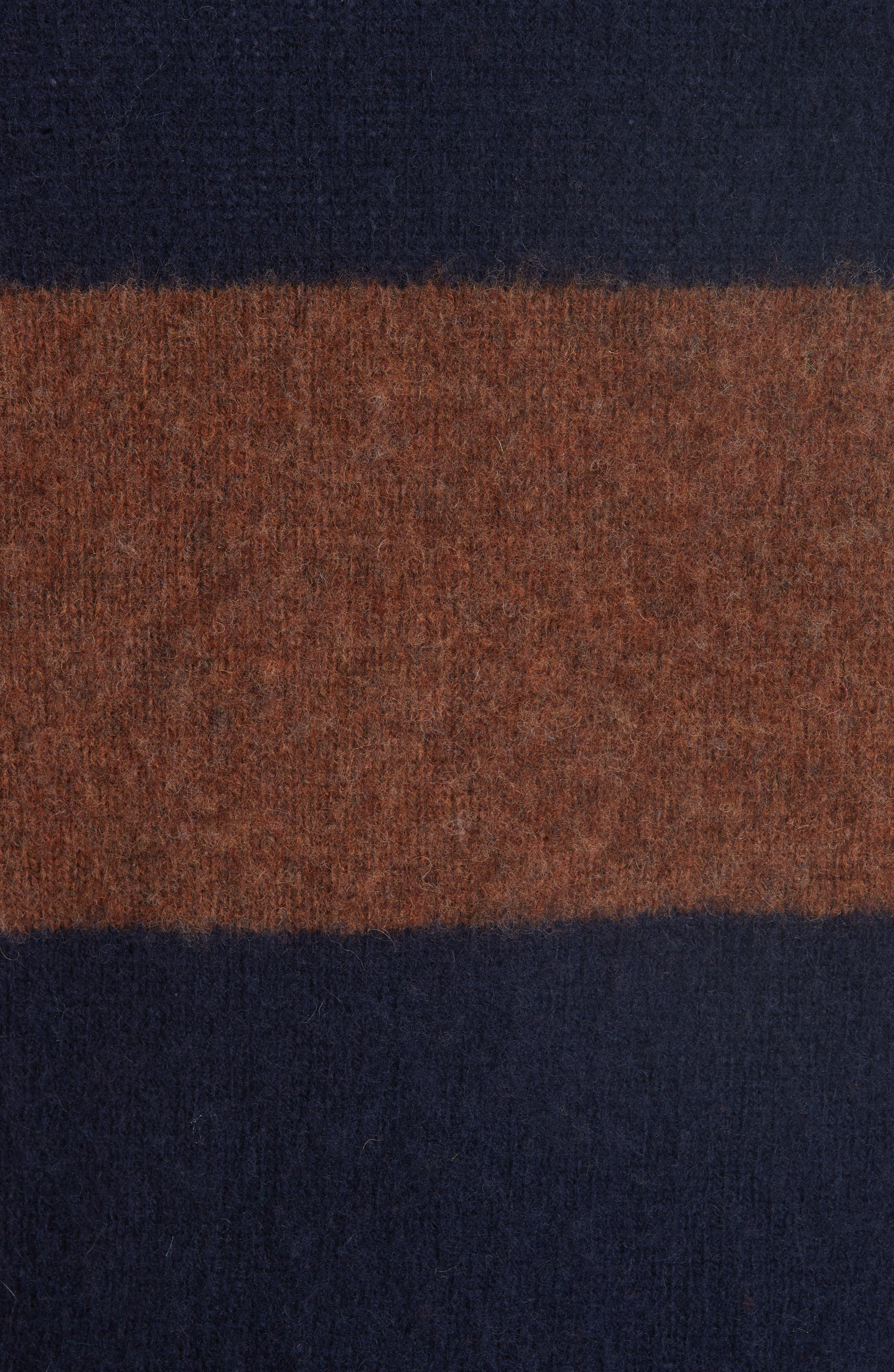 Officine Générale Stripe Wool Crew Sweater,                             Alternate thumbnail 5, color,                             411