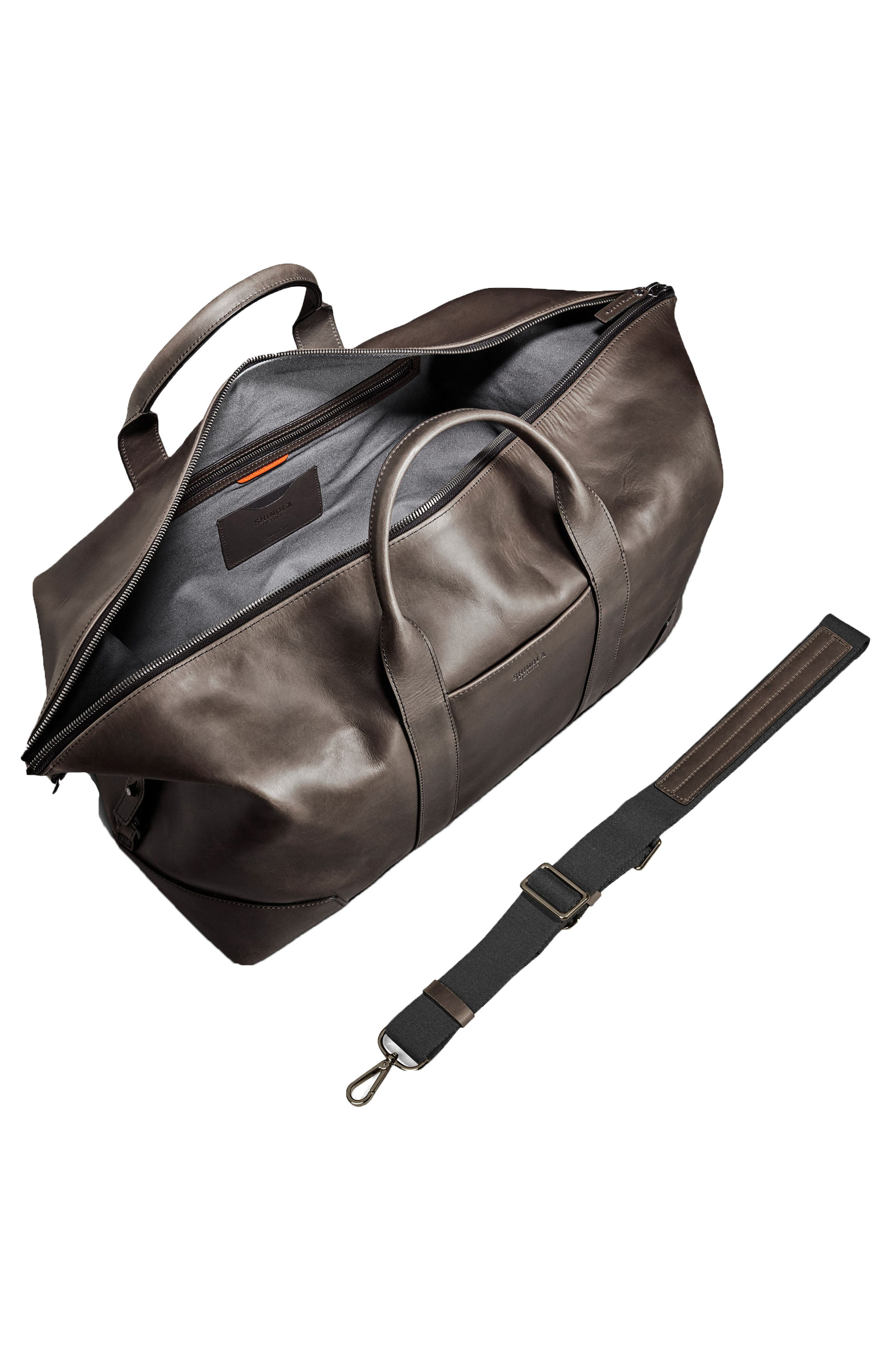 Madone Leather Carryall Bag,                             Alternate thumbnail 3, color,                             018