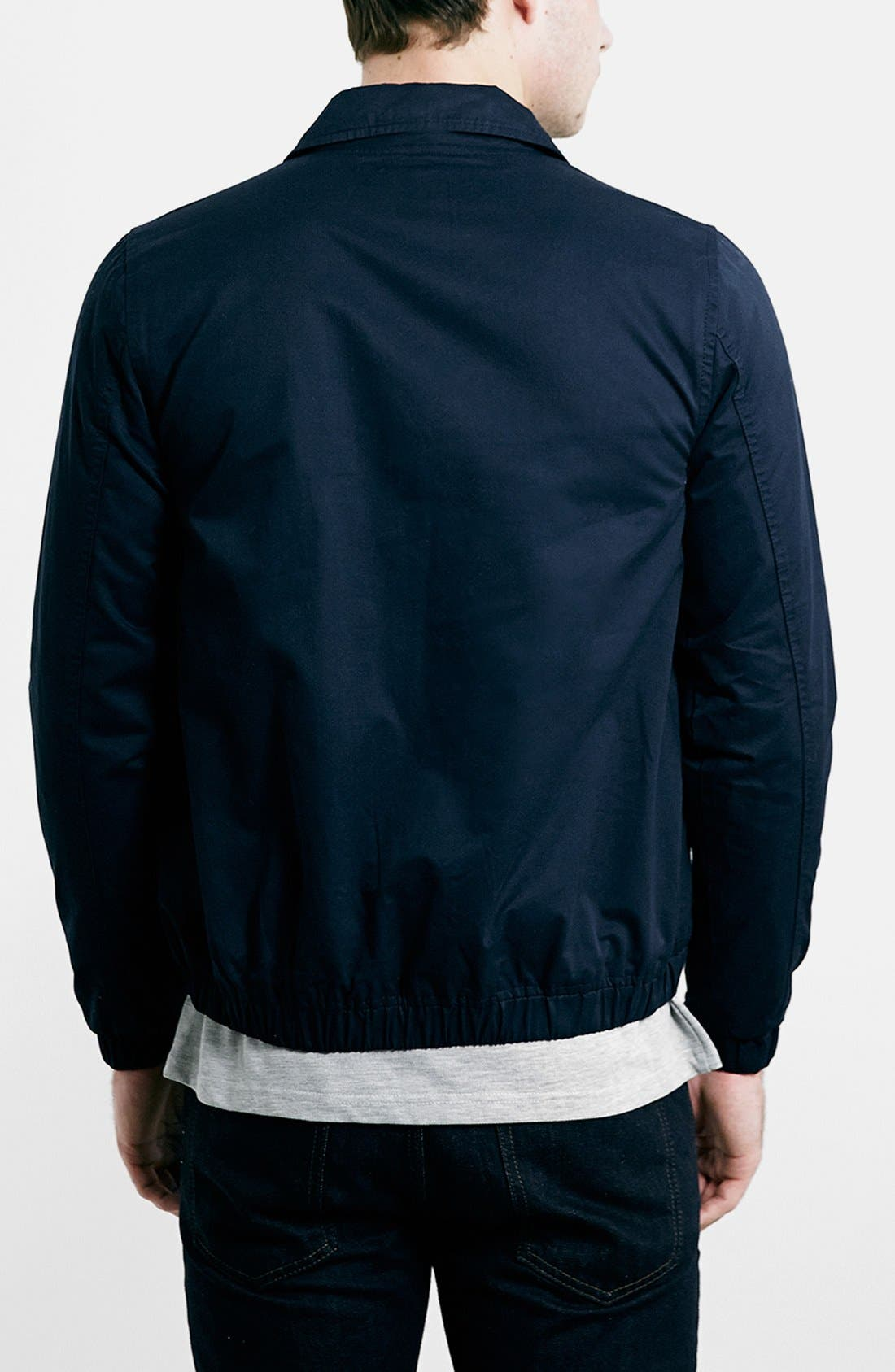 Navy Harrington Jacket,                             Alternate thumbnail 2, color,                             410