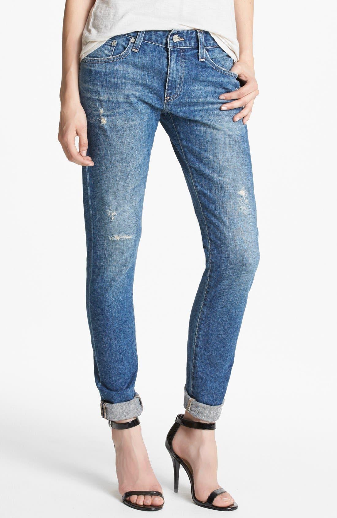AG,                             'Nikki' Relaxed Skinny Jeans,                             Main thumbnail 1, color,                             453
