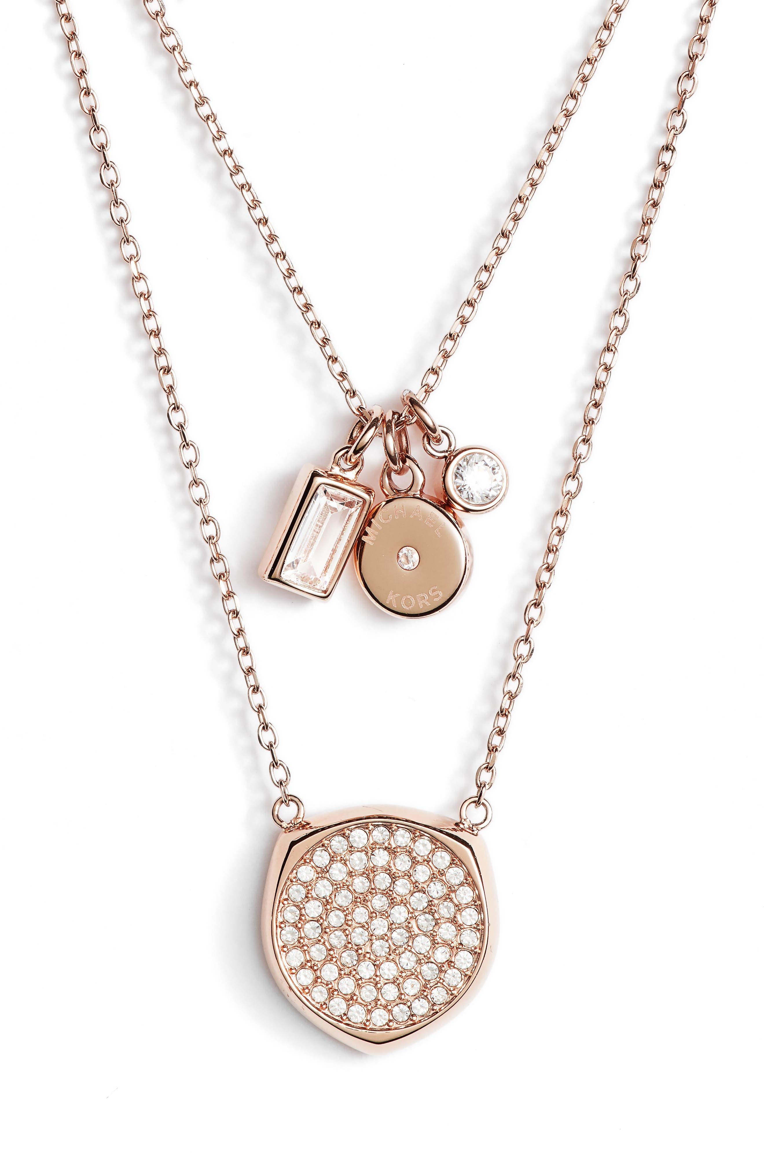 Charm Pendant Necklace,                         Main,                         color, 650