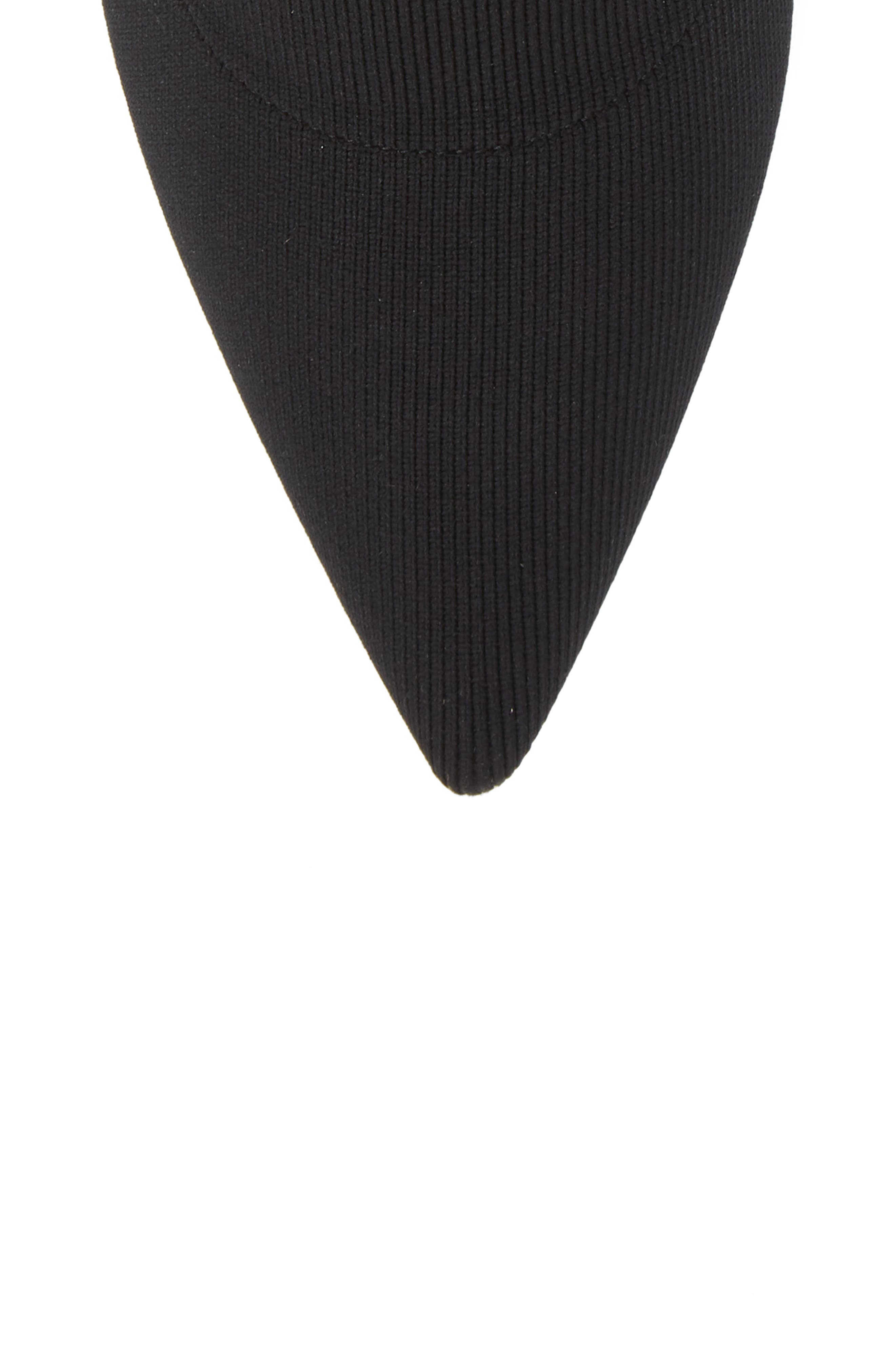Logo Sock Bootie,                             Alternate thumbnail 5, color,                             BLACK