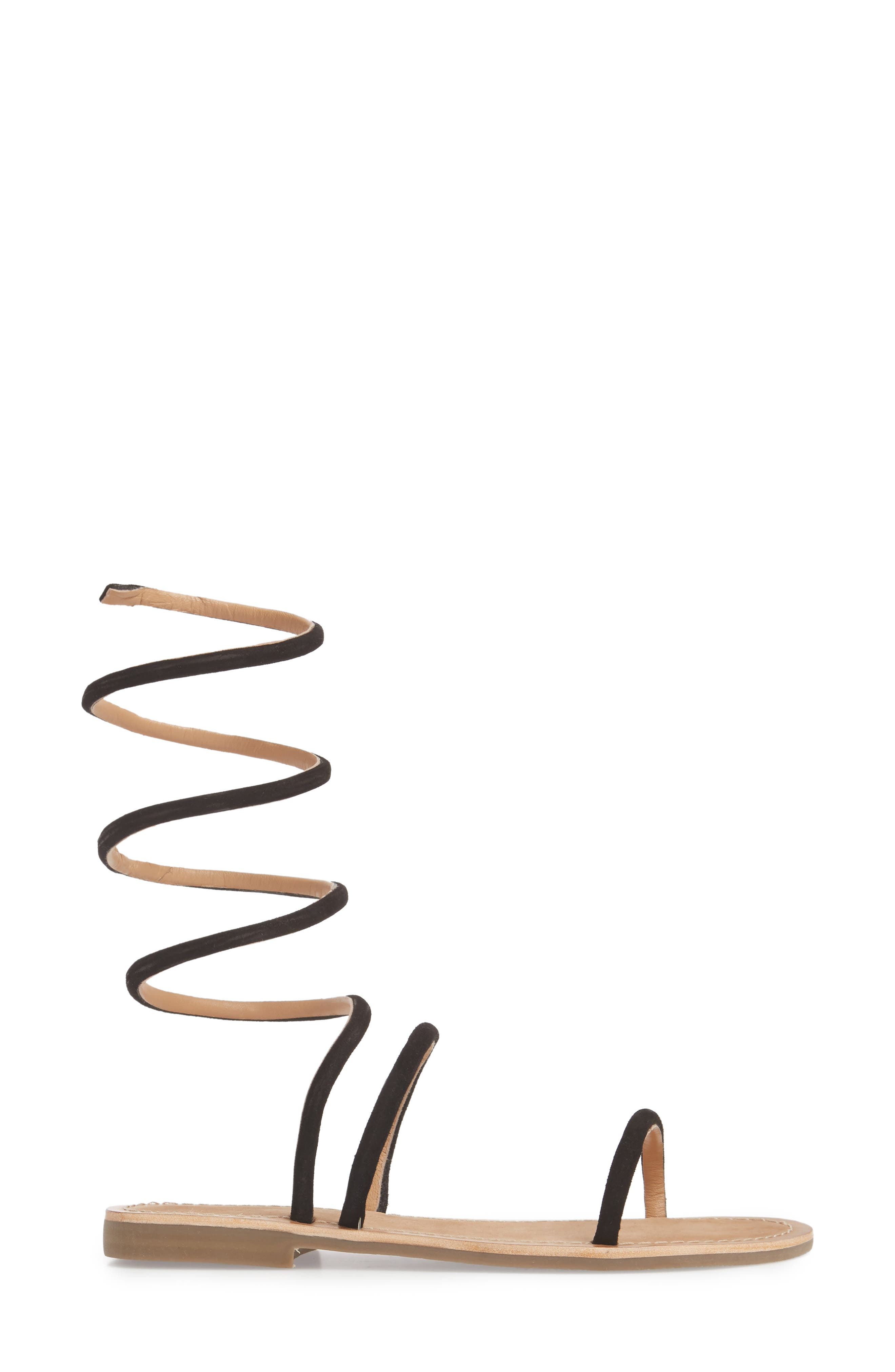 Havana Wraparound Gladiator Sandal,                             Alternate thumbnail 3, color,                             001