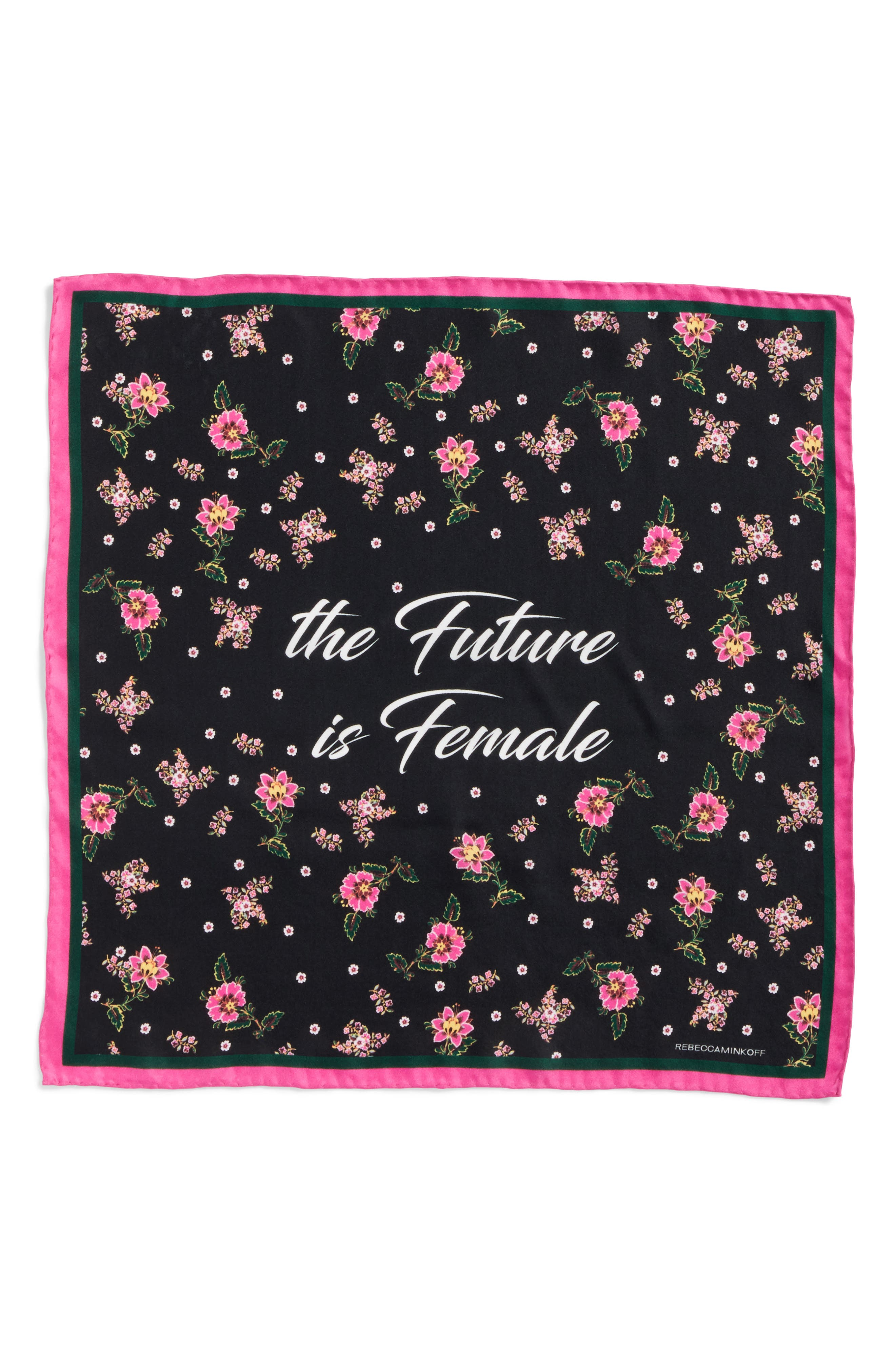 The Future is Female Silk Bandana,                             Alternate thumbnail 3, color,                             001